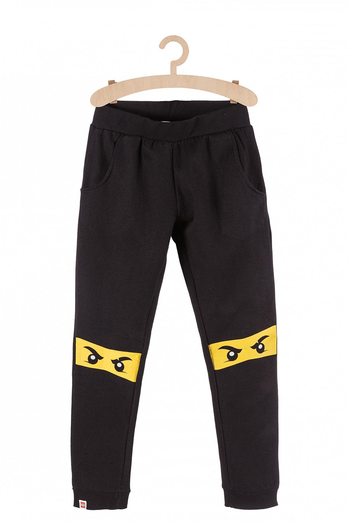 Spodnie chłopięce dresowe czarne Lego Ninjago