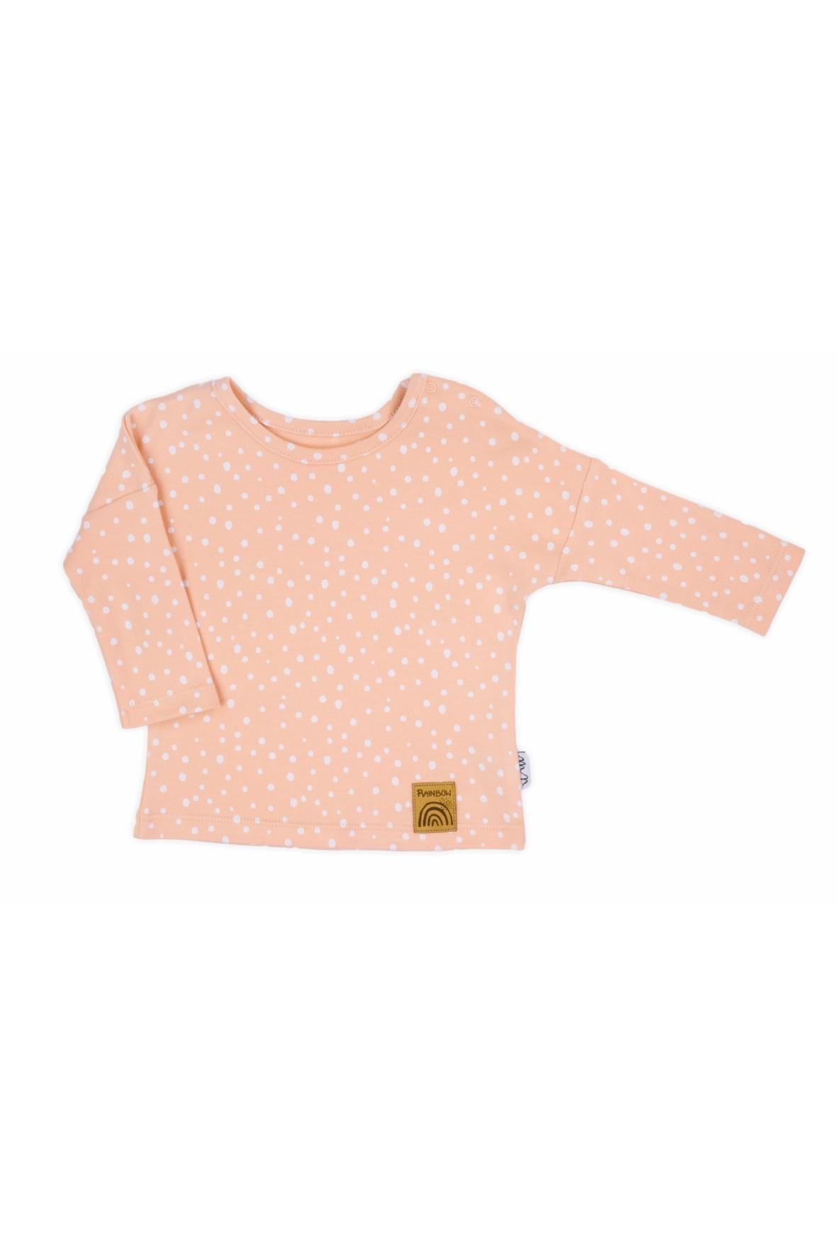 Różowa bluzka z długim rękawem Rainbow