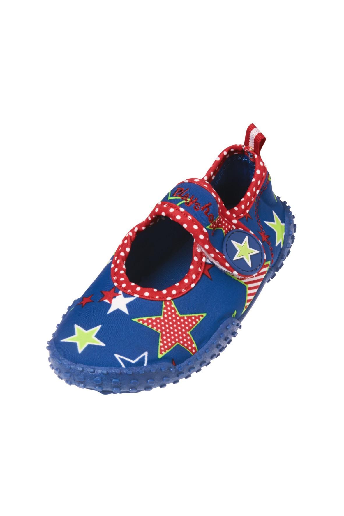 Buty kąpielowe z filtrem UV- granatowe w gwiazdki