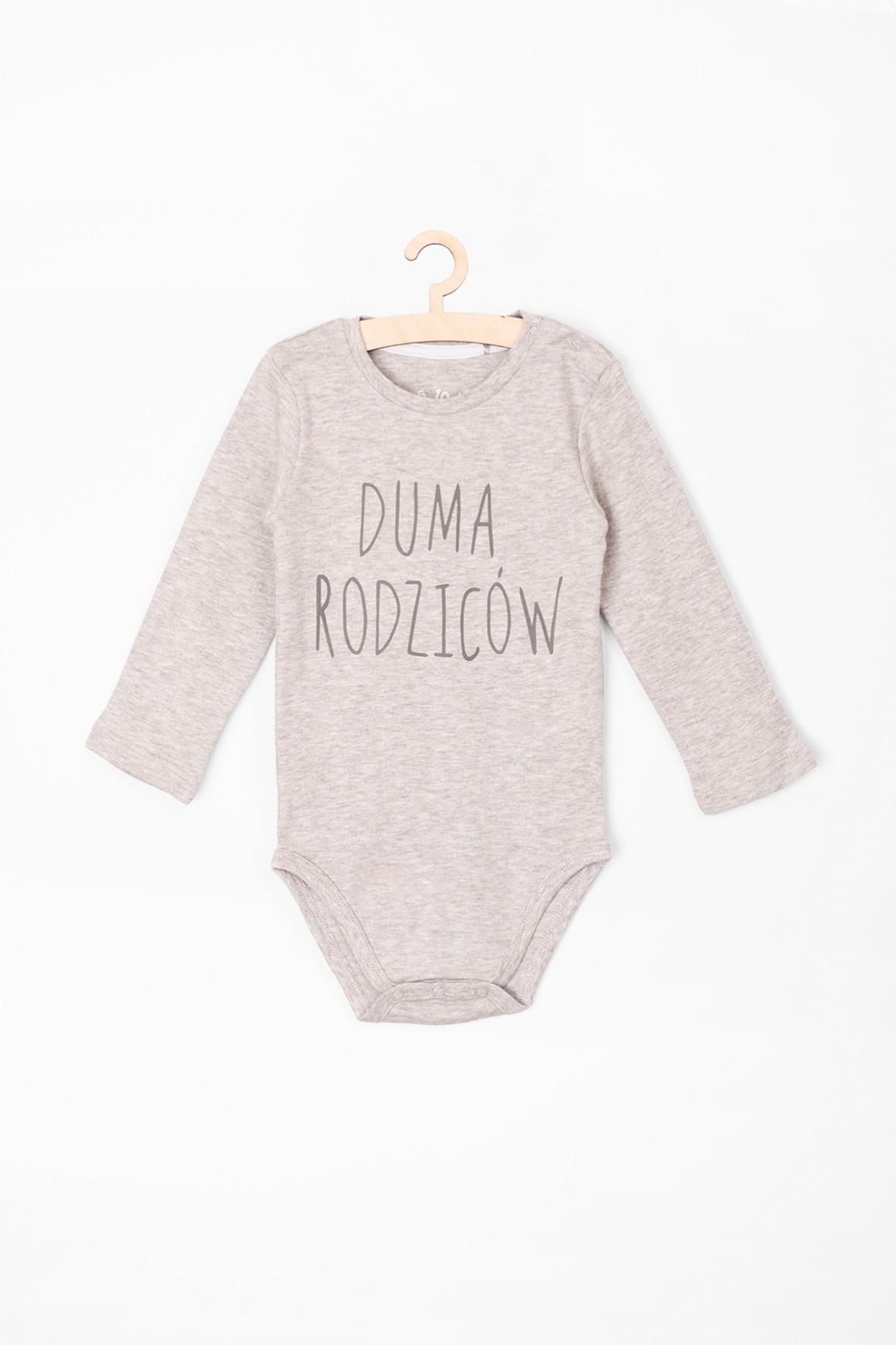 Body niemowlęce z długim rękawem z napisem Duma Rodziców