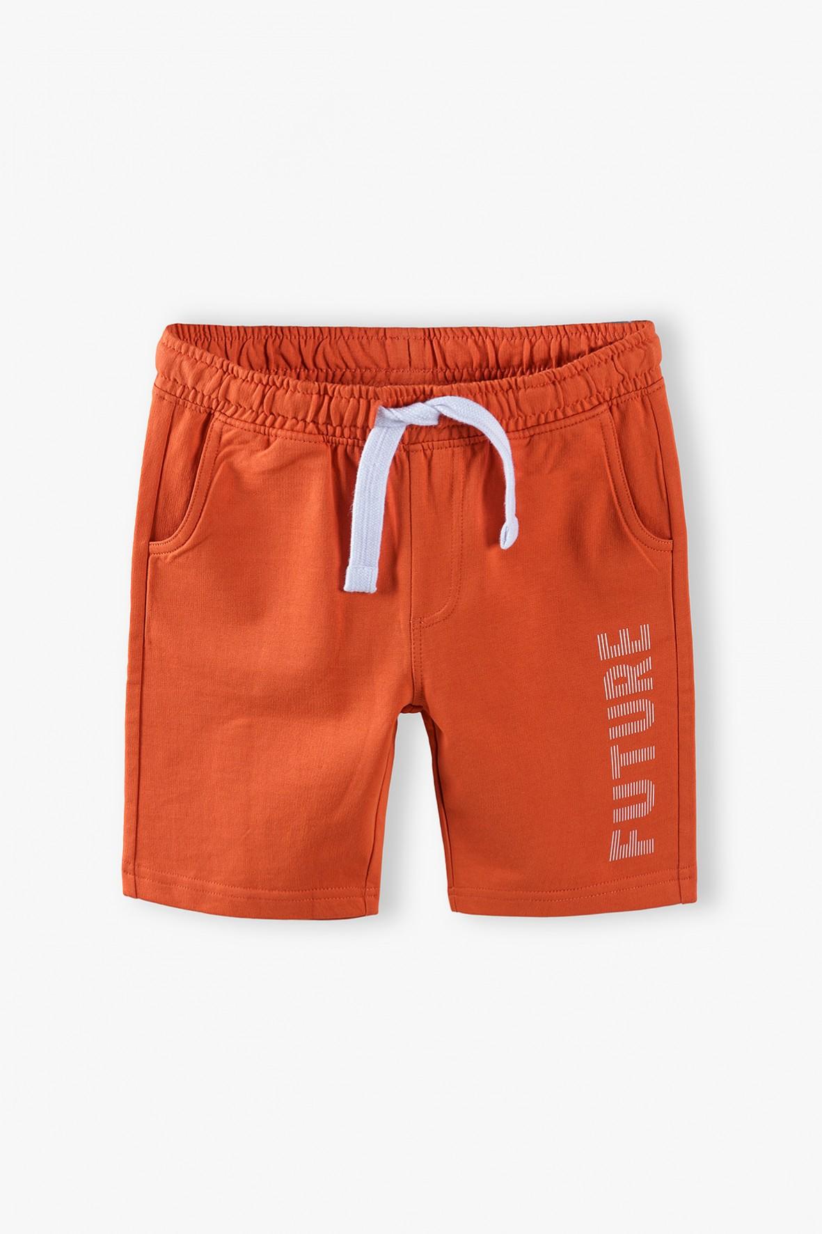 Pomarańczowe szorty chłopięce- Future