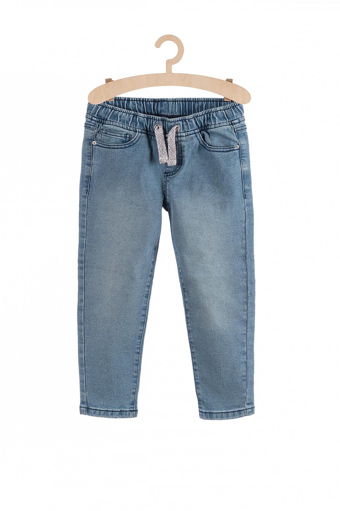 Jeansowe chinosy dla chłopca- niebieskie