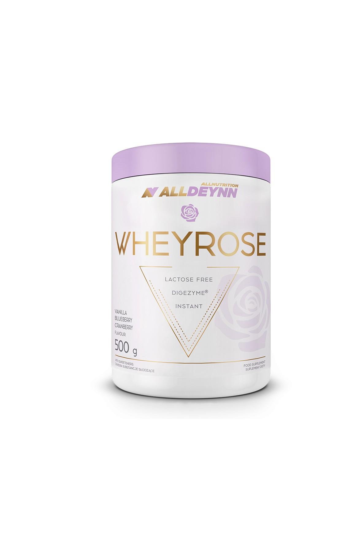 Suplementy diety - Allnutrition ALLDEYNN Wheyrose Vanilla Blueberry Cranberry 500 g