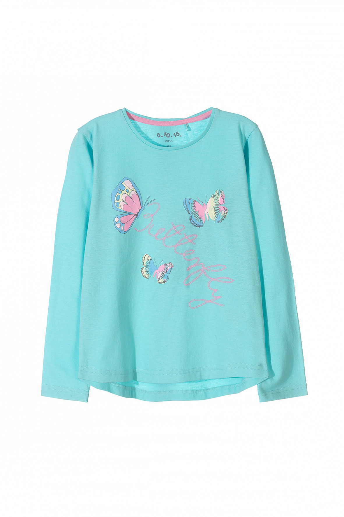 Bluzka dziewczęca-kolorowe motyle