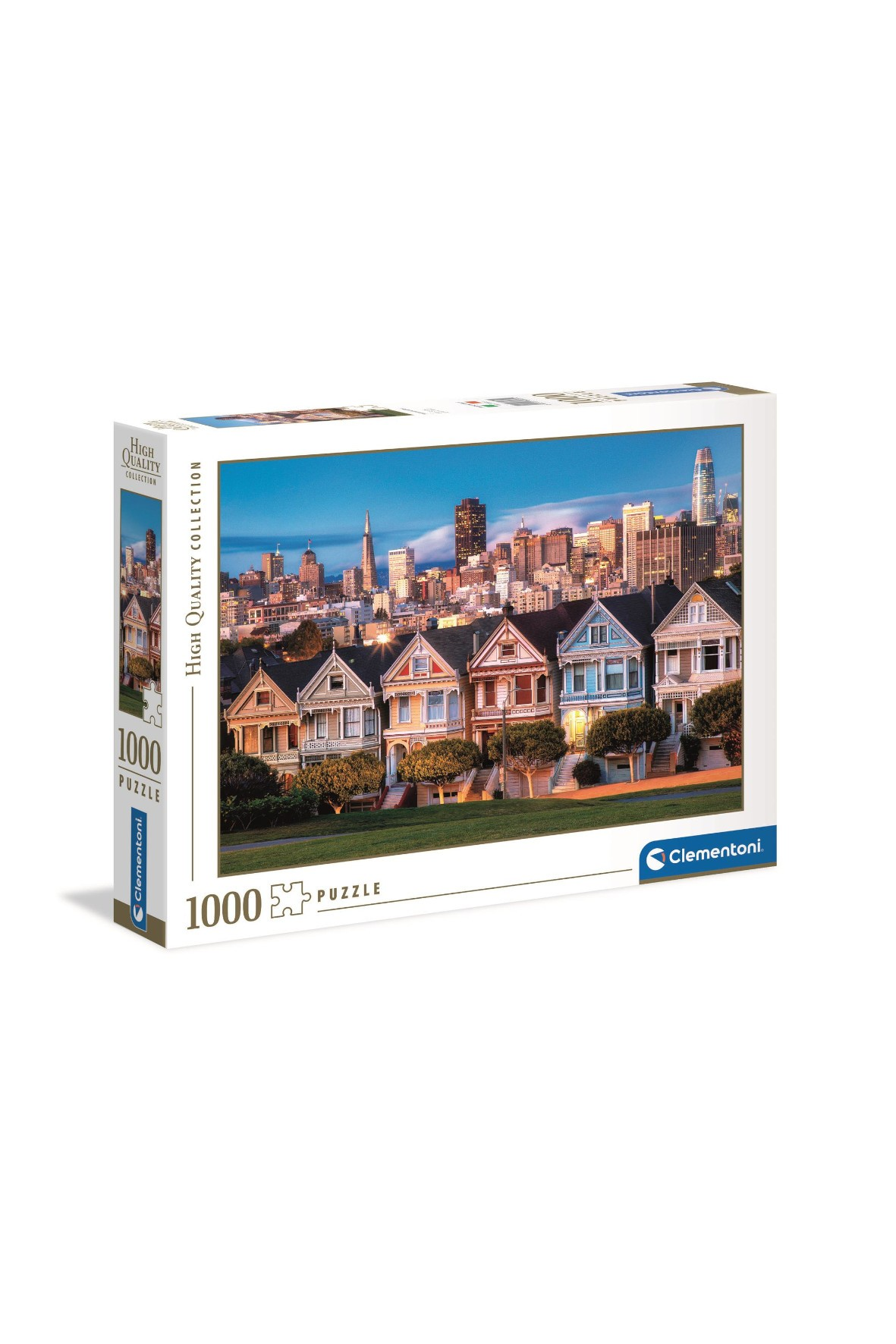Puzzle Malowane domki Clementoni - 1000 elementów