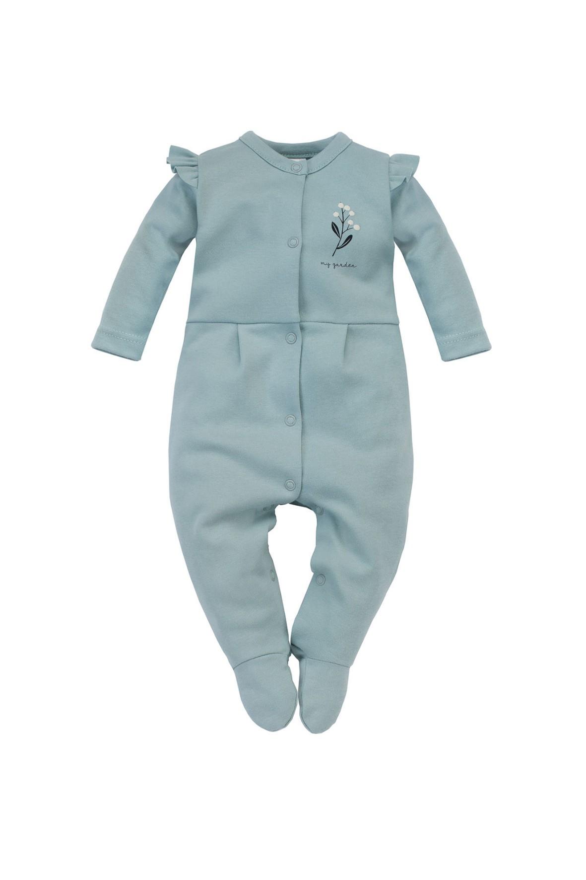 Pajac niemowlęcy z wysokiej jakości bawełny w odcieniu mięty My Garden