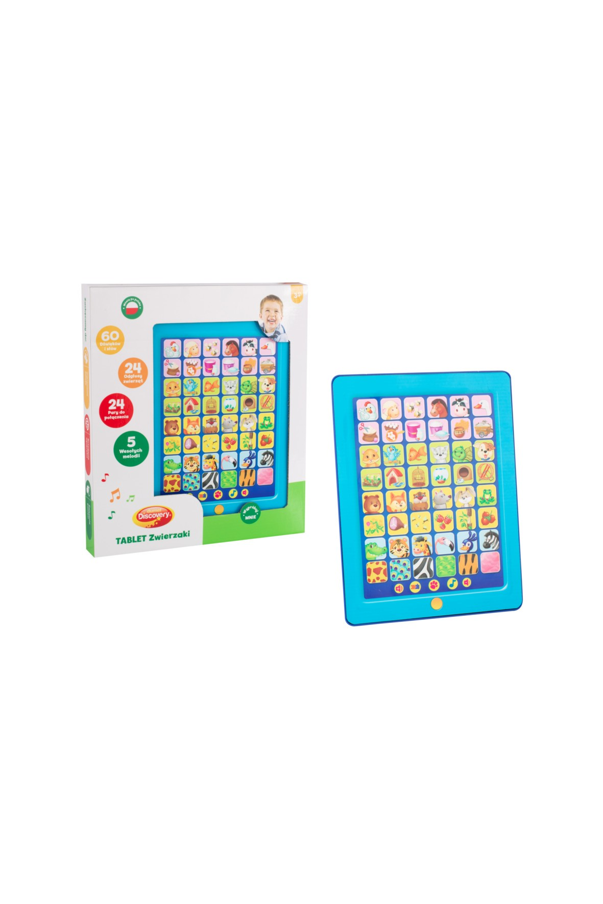 Tablet - Zwierzaki- zabawka edukacyjna 3+