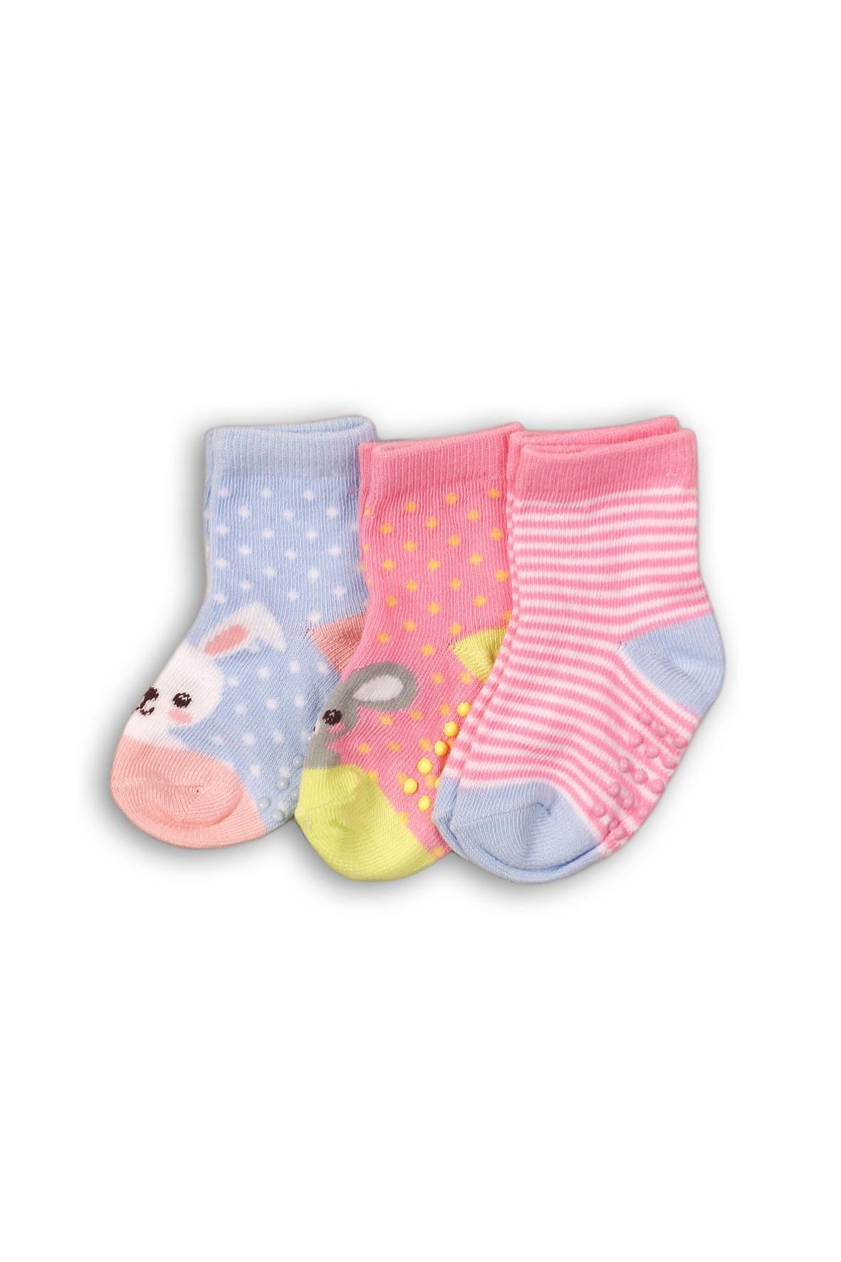 Skarpety niemowlęcych z ABS 3pak 5V35AG | Sklep 5.10.15