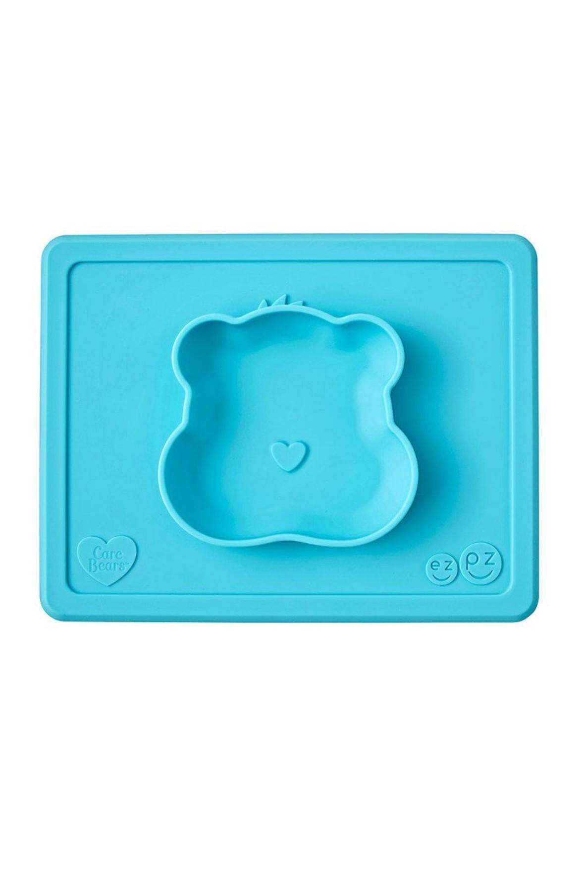 Silikonowa miseczka z podkładką 2w1 Care Bears™ Bowl Misia Życzliwe Serce Wish Bear turkusowa