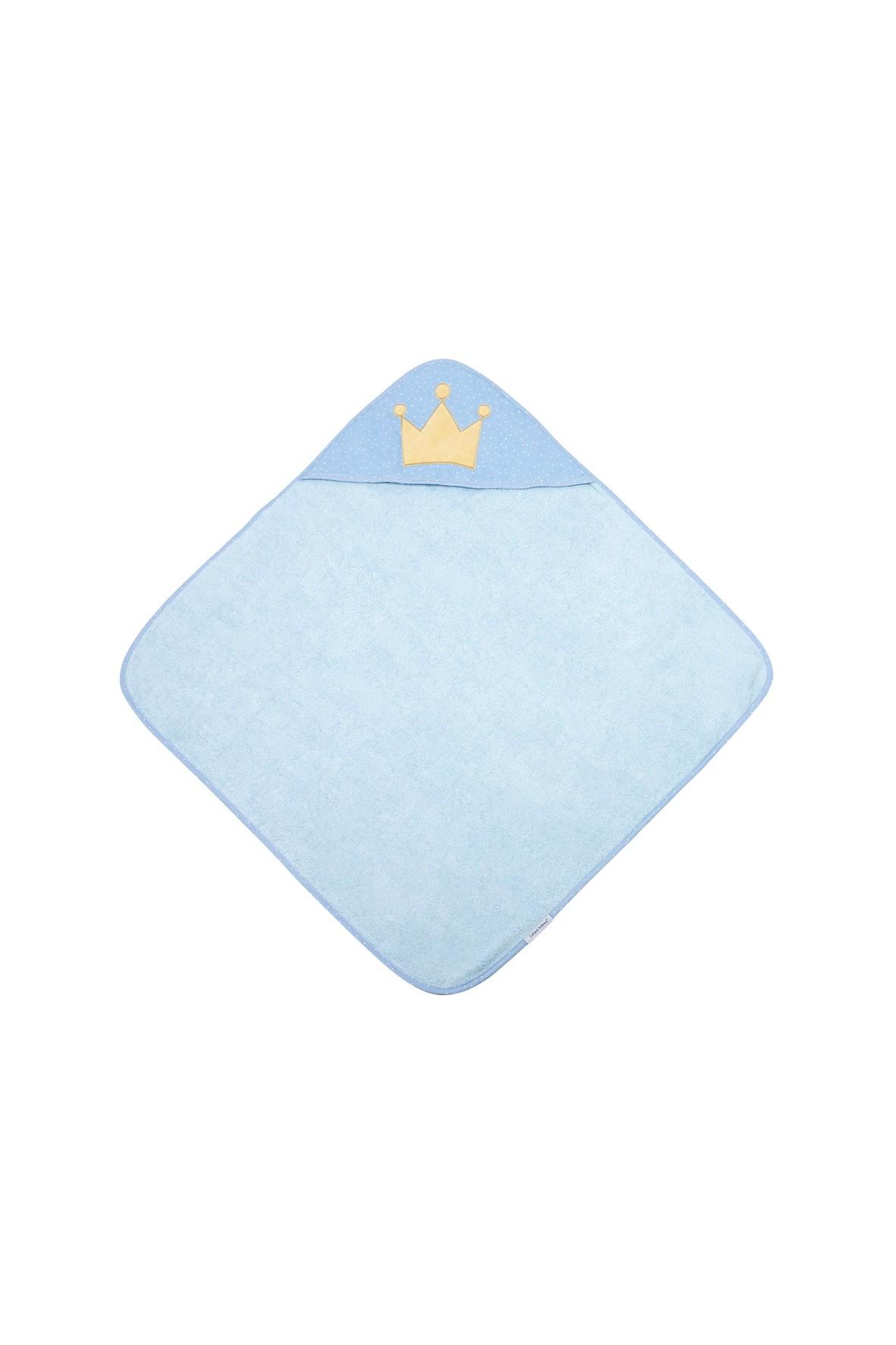Okrycie kąpielowe dla niemowląt  King- niebieskie 85x85cm