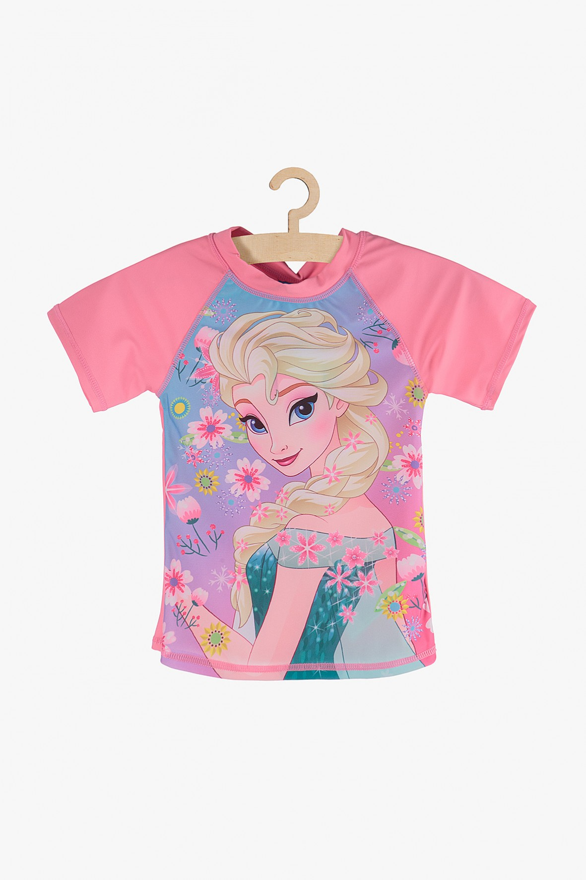 T-shirt kąpielowy Frozen różowy