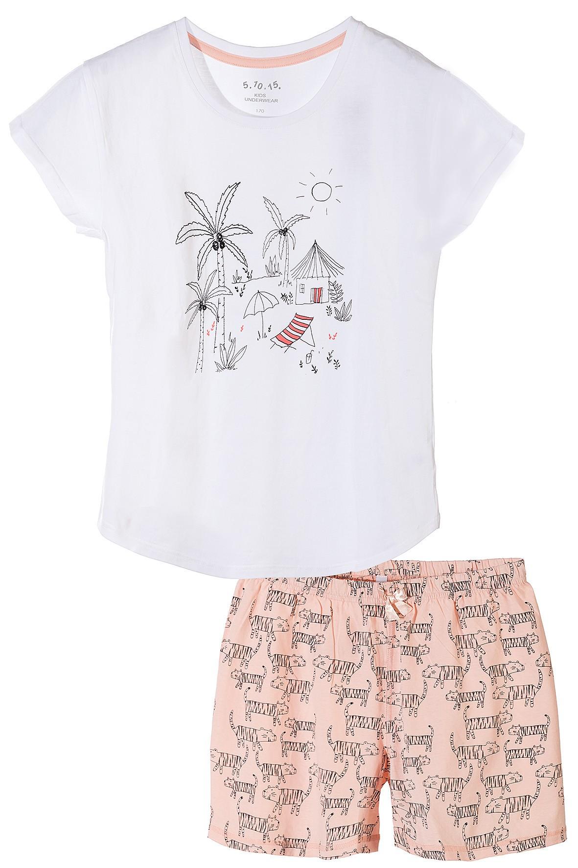 Pidżama dziewczęca bawełniana- bielizna dla dziewczynki
