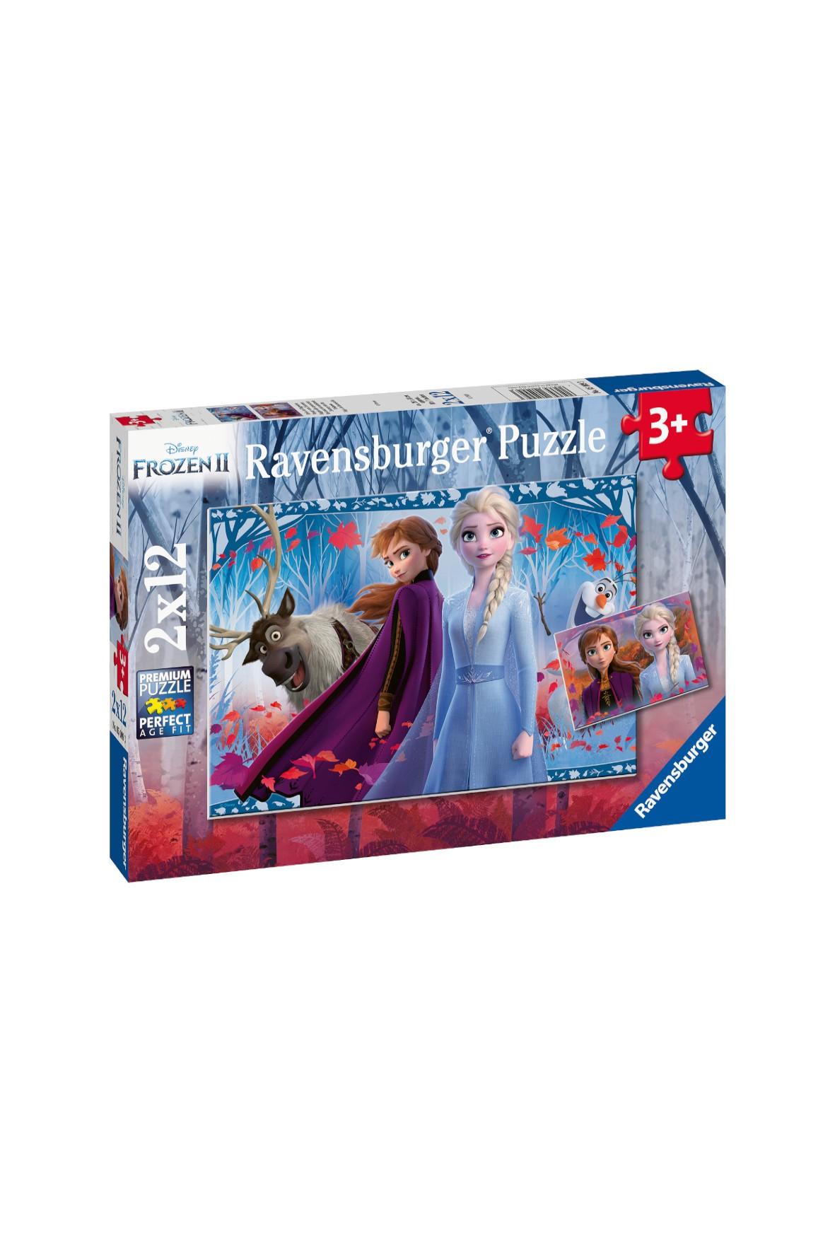 Puzzle Frozen 2 - 2 x 12 elementów wiek 3+