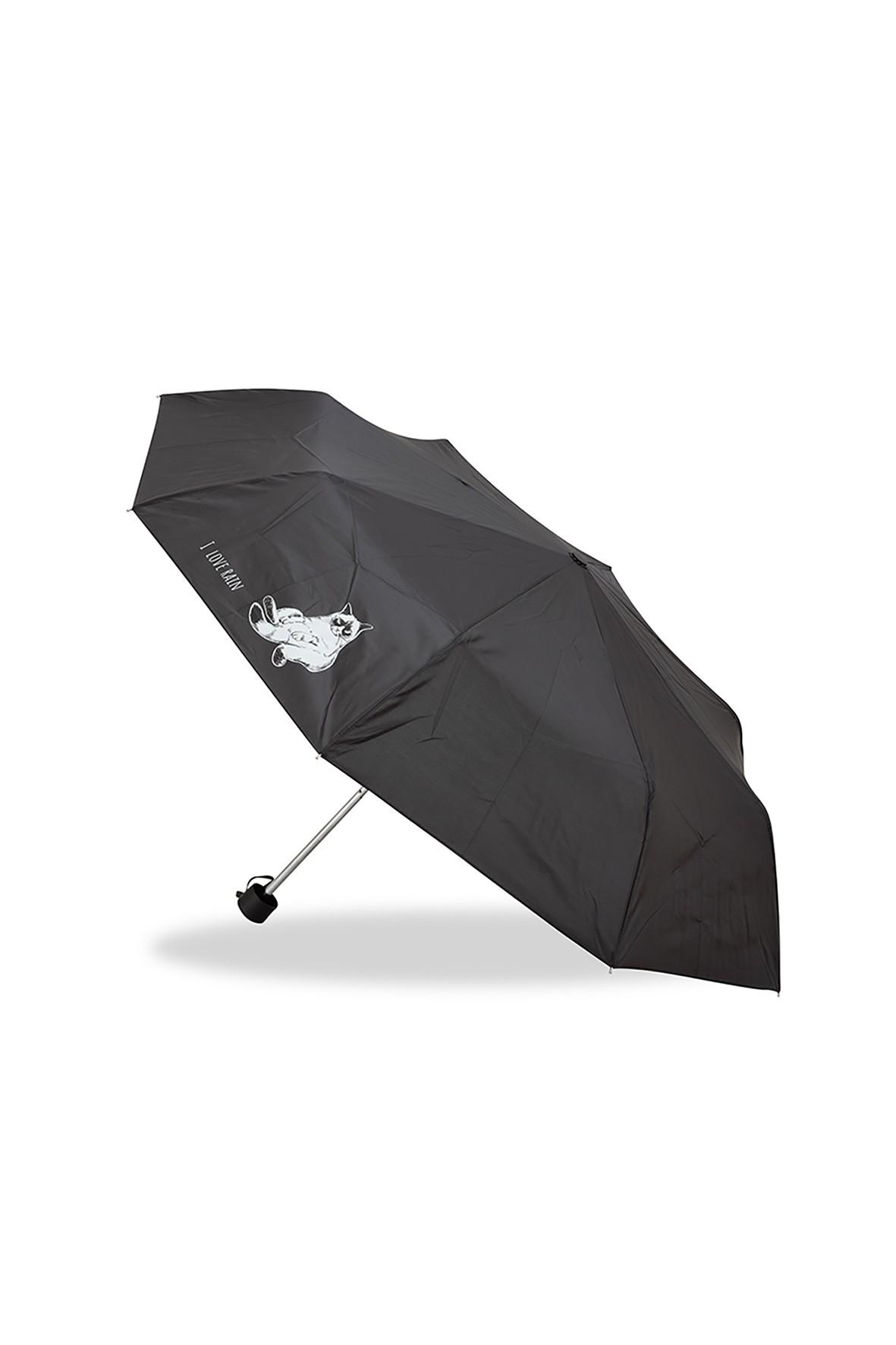 Parasol manualny krótki składany z kotkiem