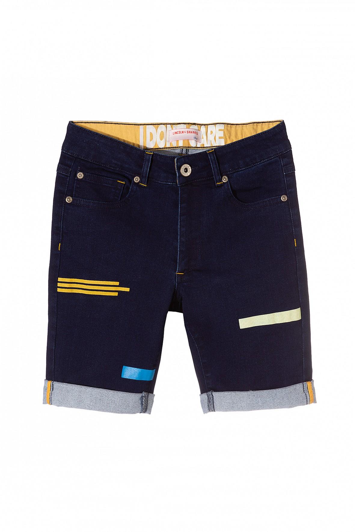 Szorty chłopięce jeansowe z nadrukami