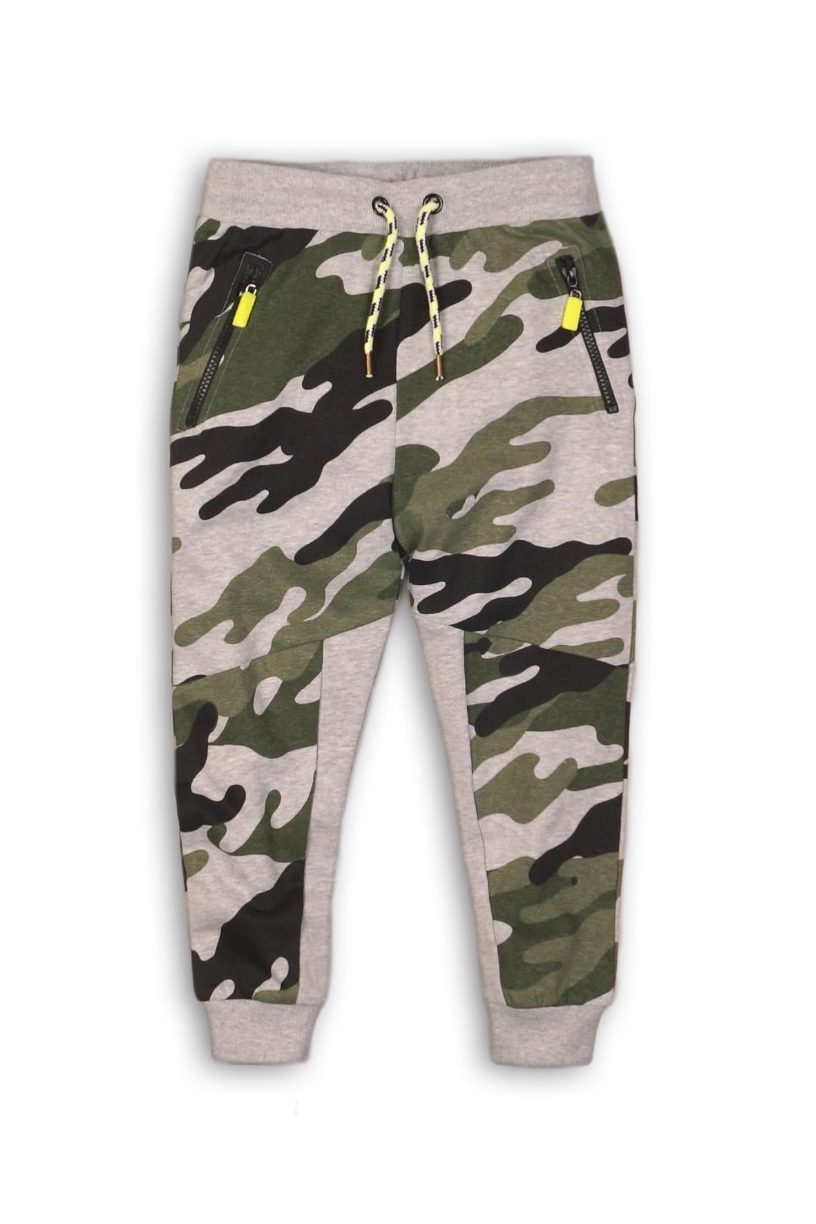 Spodnie chłopięce dresowe- moro