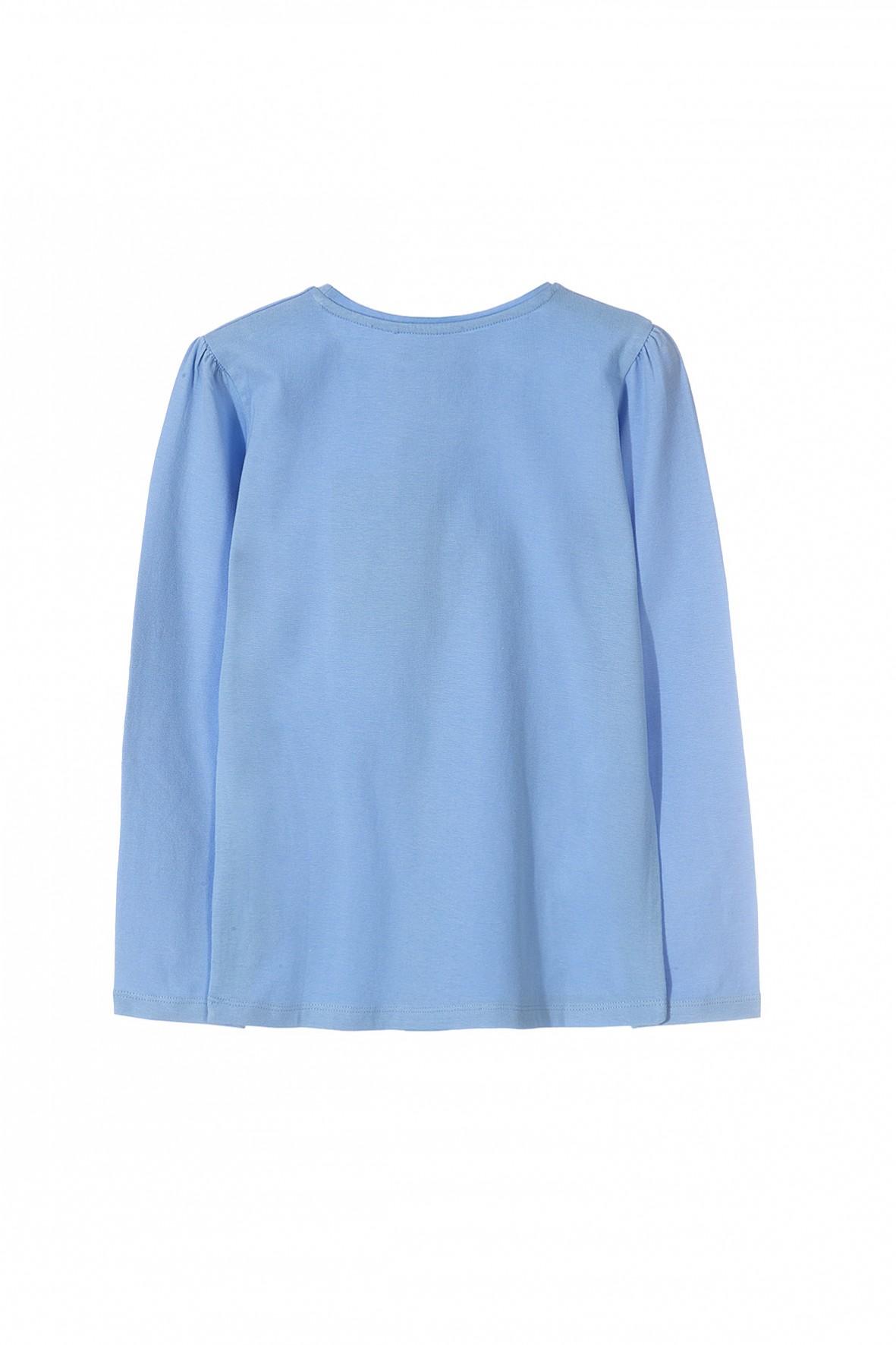 9c32ecb580 ... Bluzka dziewczęca niebieska z kwiatkiem 3D