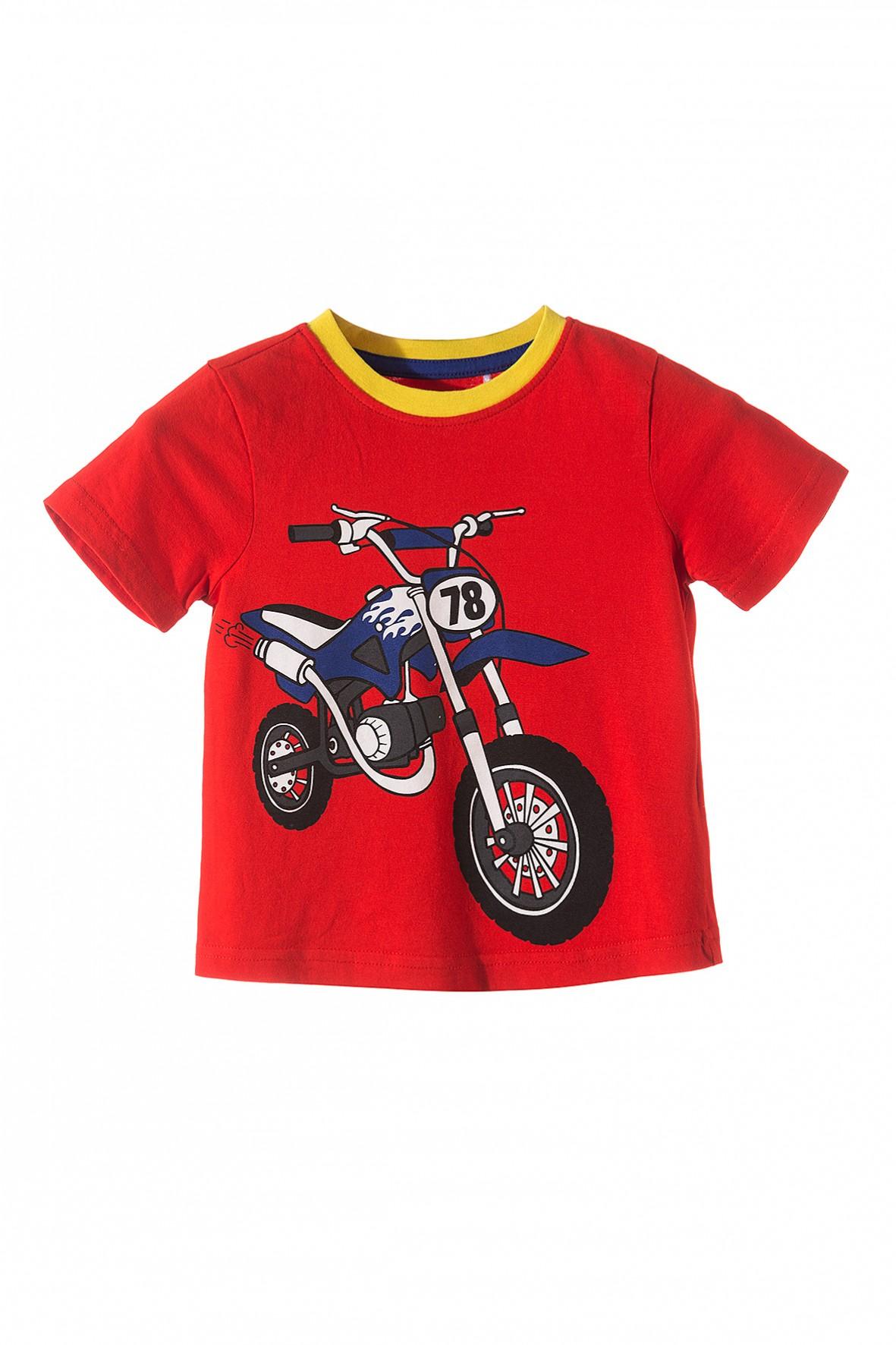 Bluzka chłopięca z motocyklem