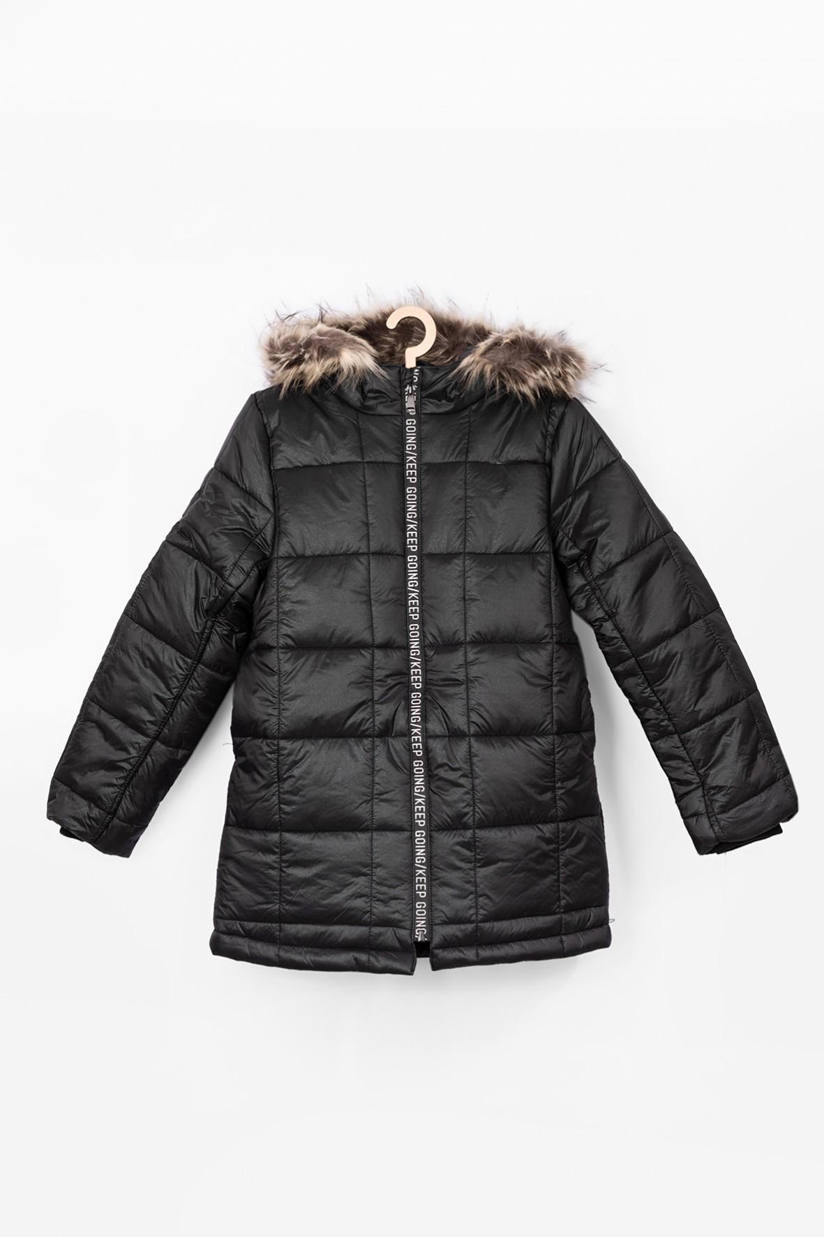 Czarna kurtka dziewczęca- zimowa
