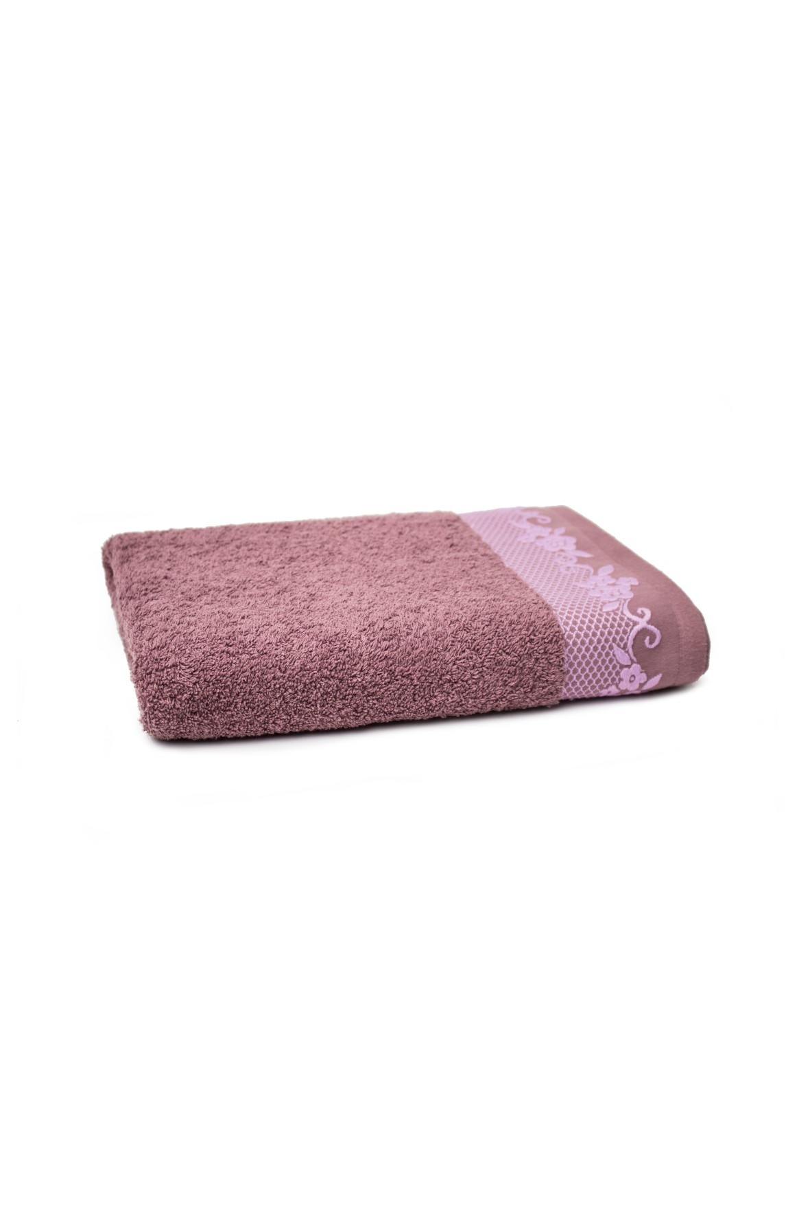 Bawełniany ręcznik w kolorze fioletowy 70x140 cm