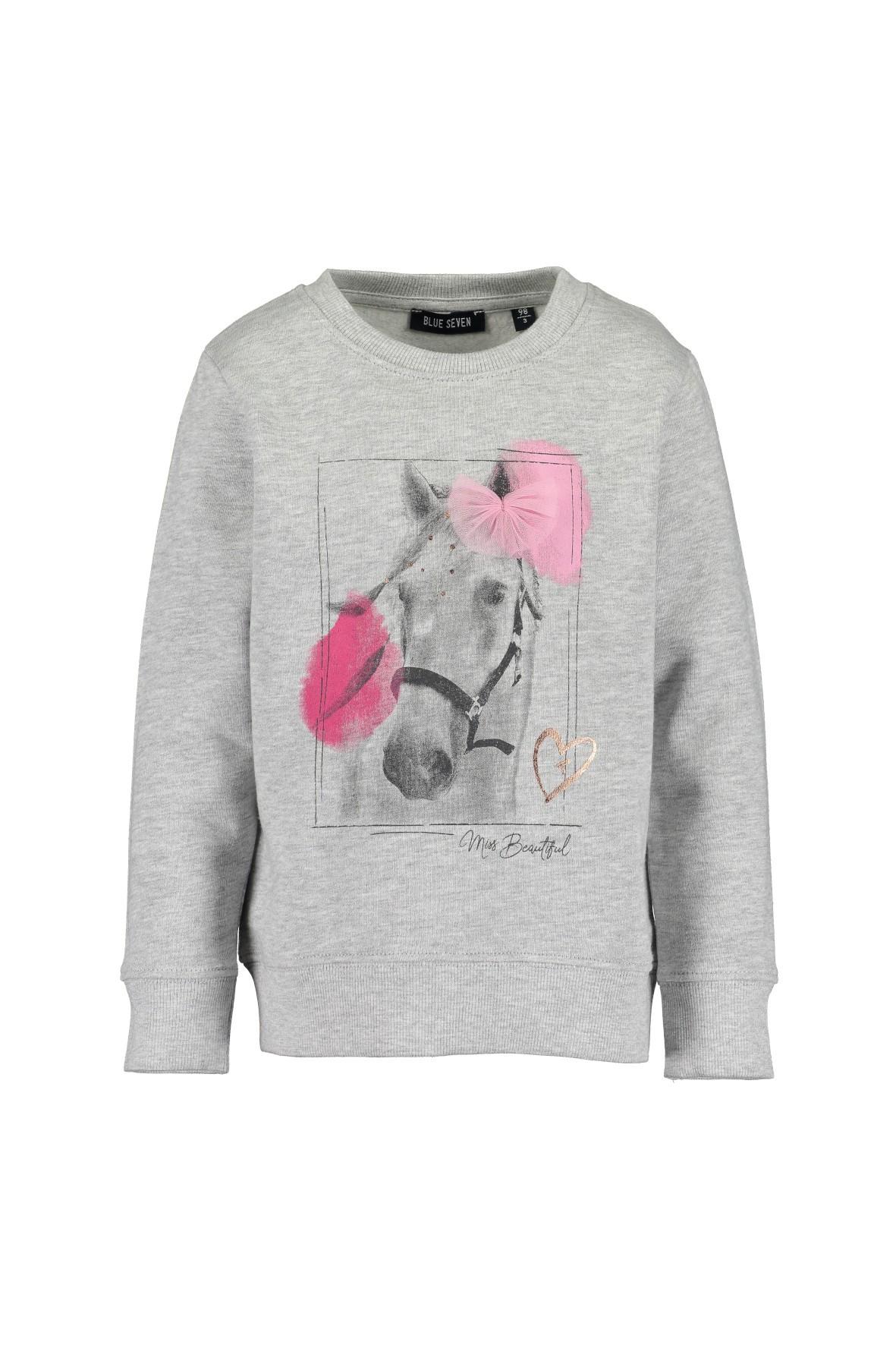 Bluza dziewczęca szara z koniem