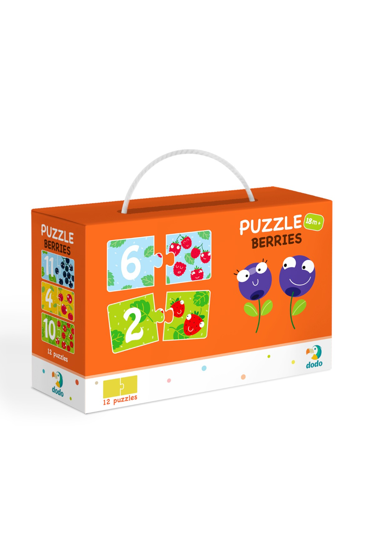 Puzzle Duo Cyferki Jagódki - 12 el 18msc+