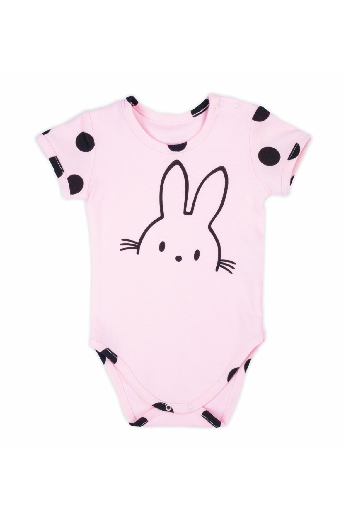 Bawełniane body niemowlęce z krótkim rękawem