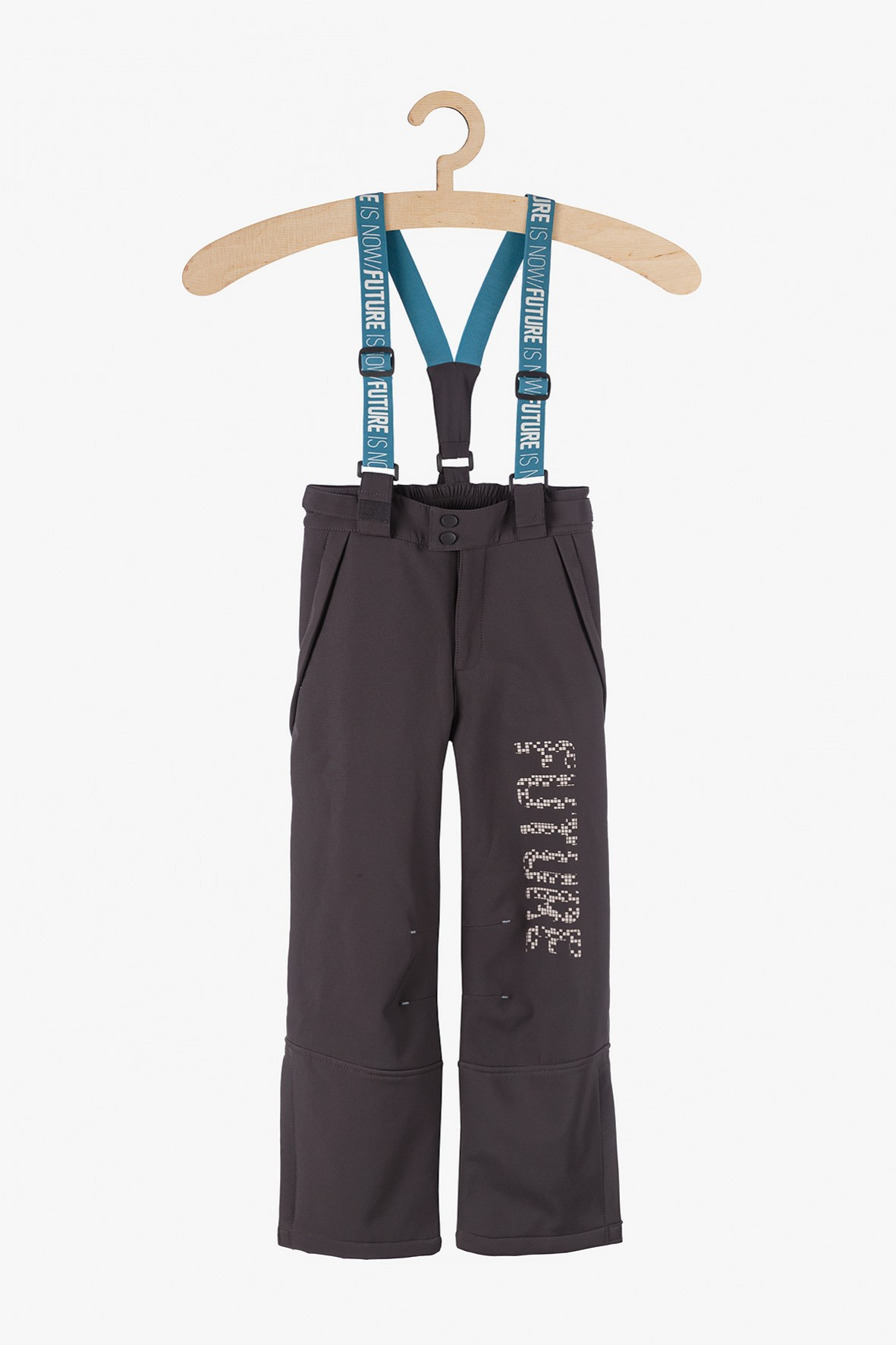 Spodnie narciarskie dla dziewczynki-granatowe z odblaskami