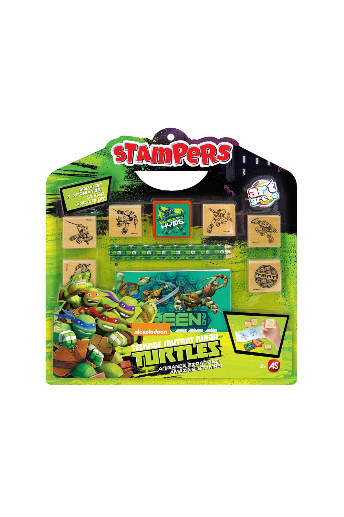 Zestaw pieczątek Żółwie Ninja