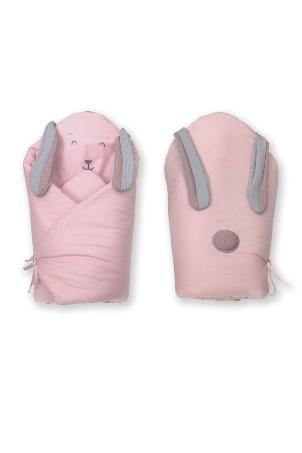 Becik dla noworodka Amy Fluffy - różowy