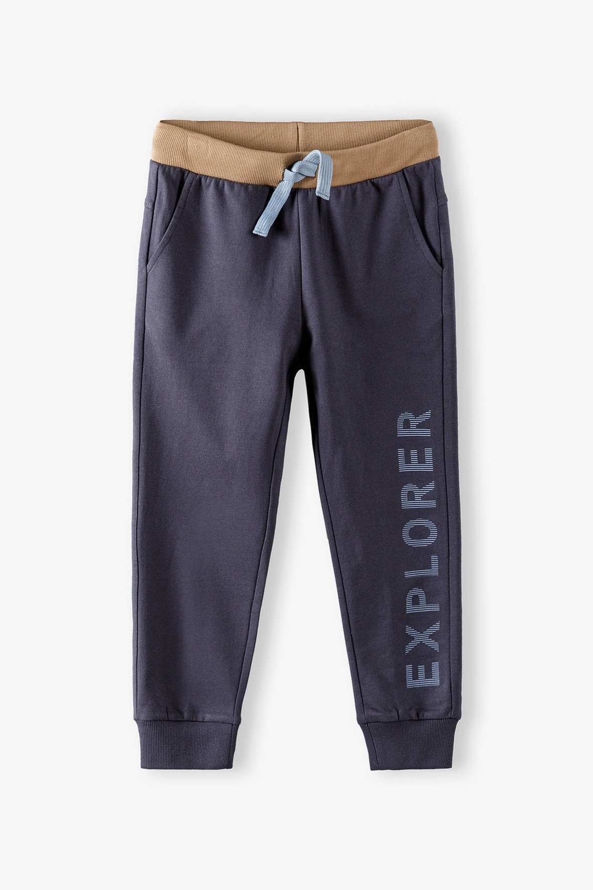 Spodnie dresowe z kieszeniami szare