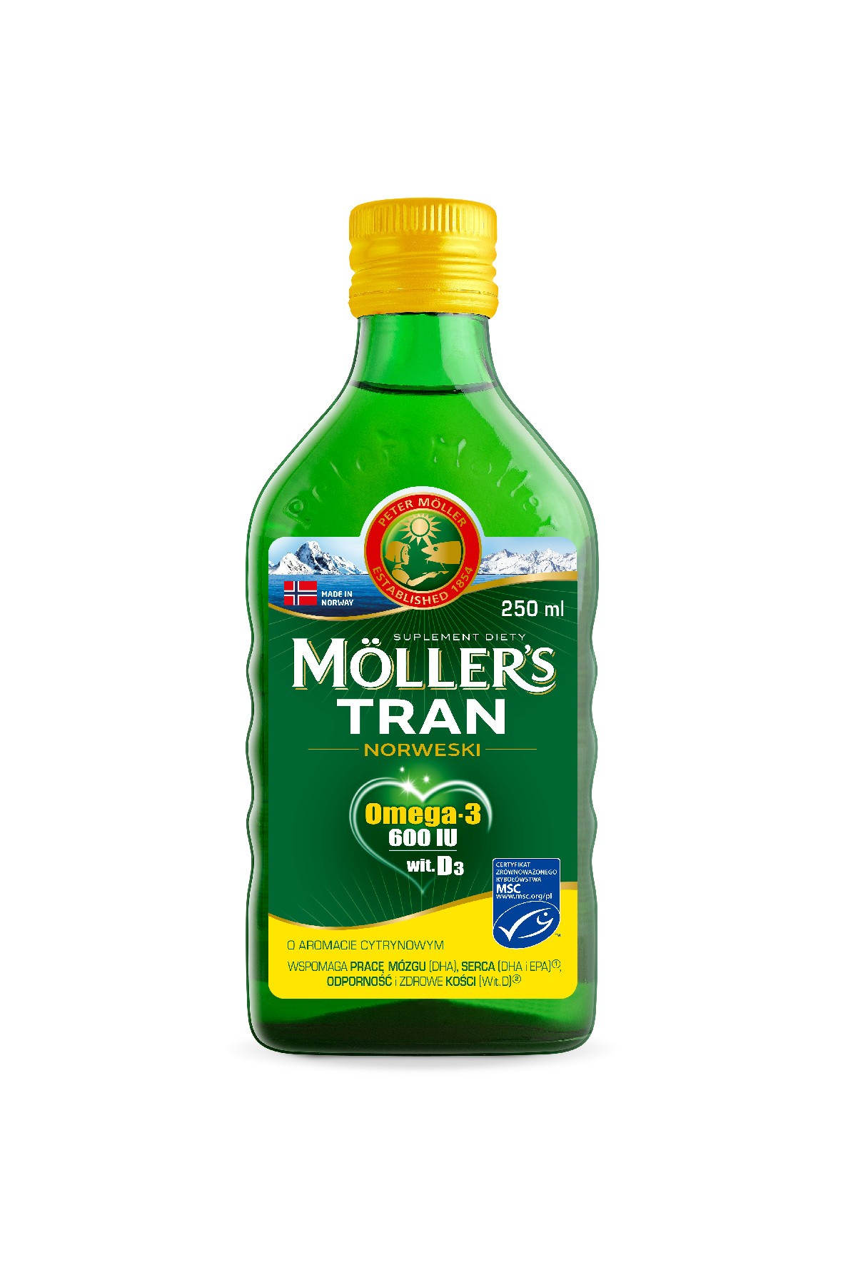 Möller's Tran Norweski - aromat cytrynowy 250ml