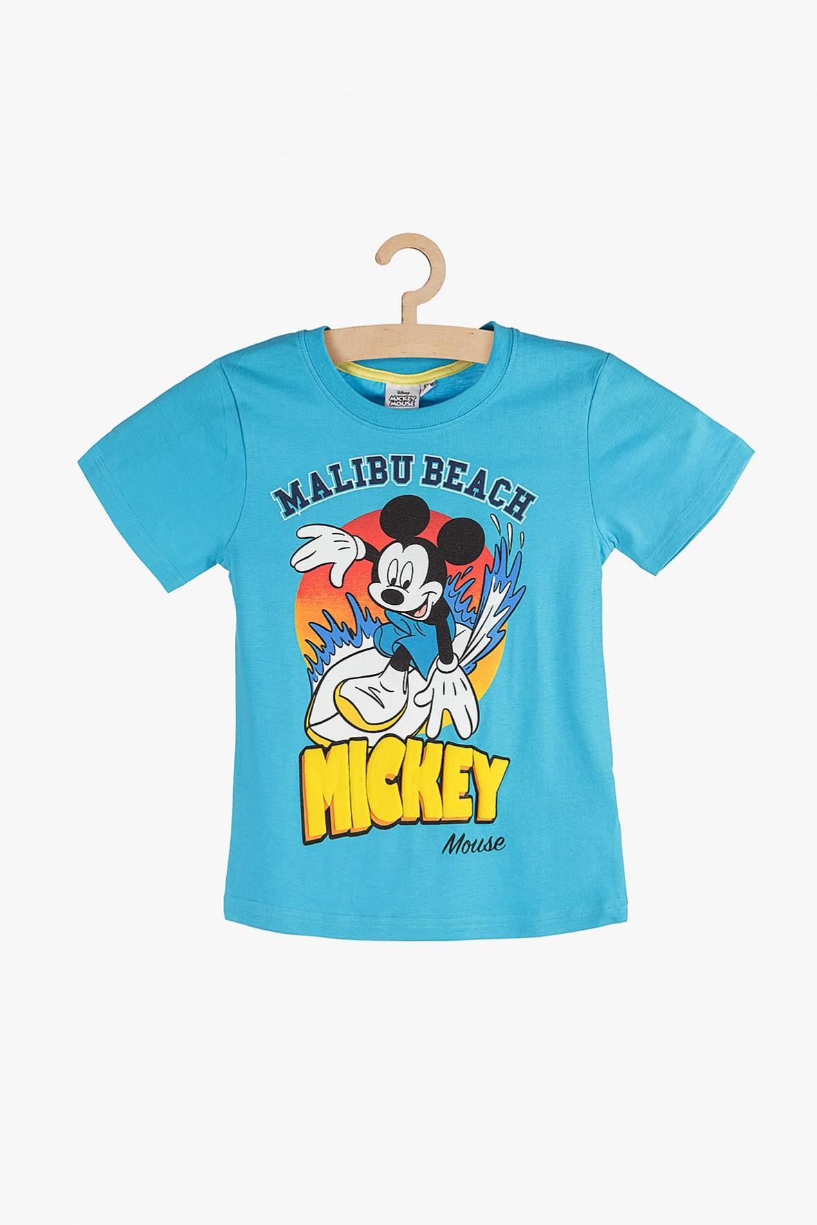 T-shirt chłopięcy niebieski Mickey
