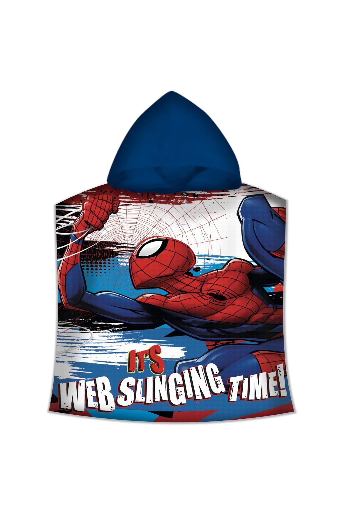 Poncho kąpielowe z motywem Spiderman 50x100cm