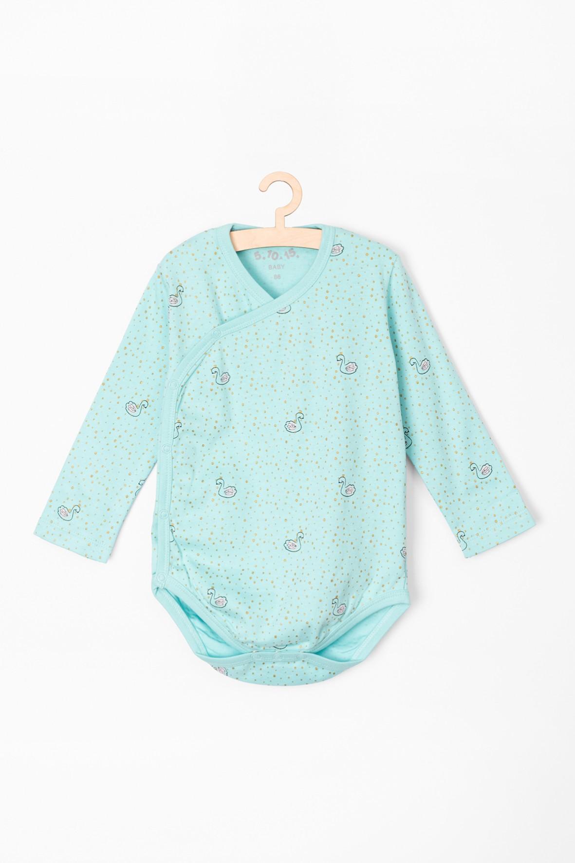 Body niemowlęce niebieskie w łabędzie