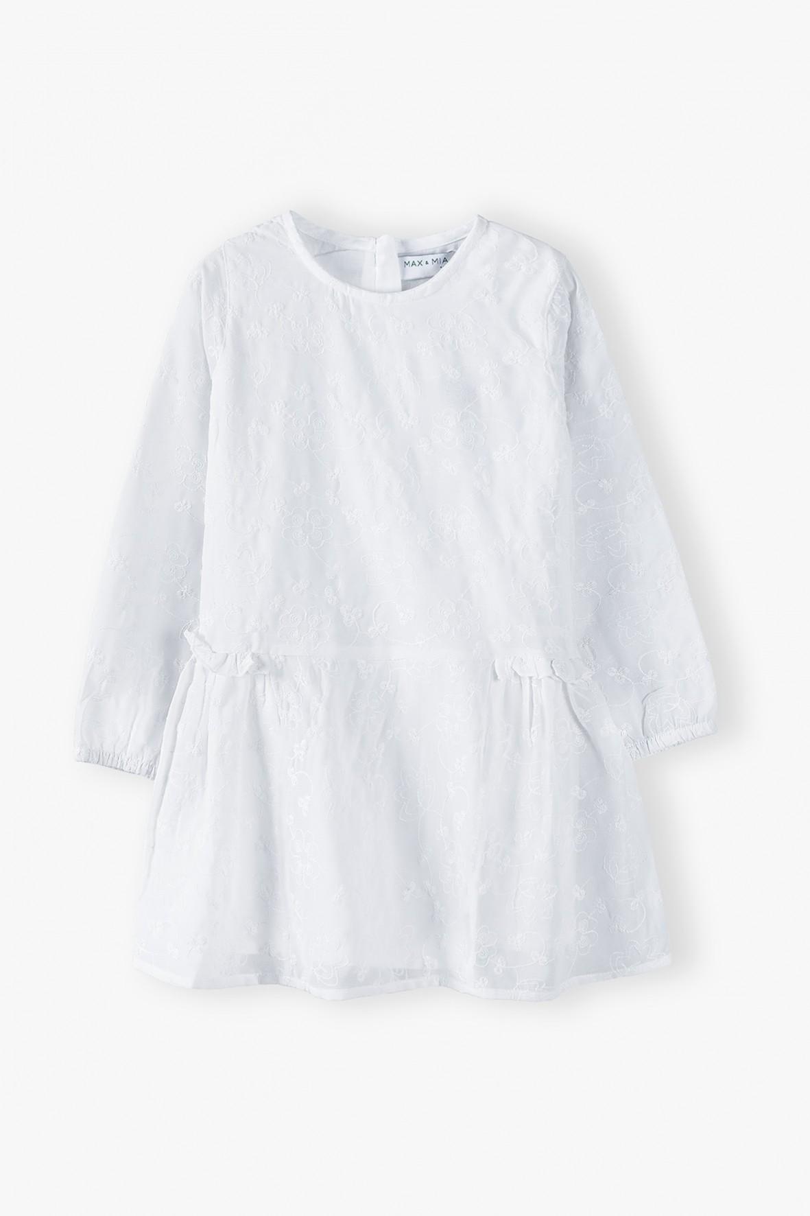 Elegancka biała sukienka dla dziewczynki