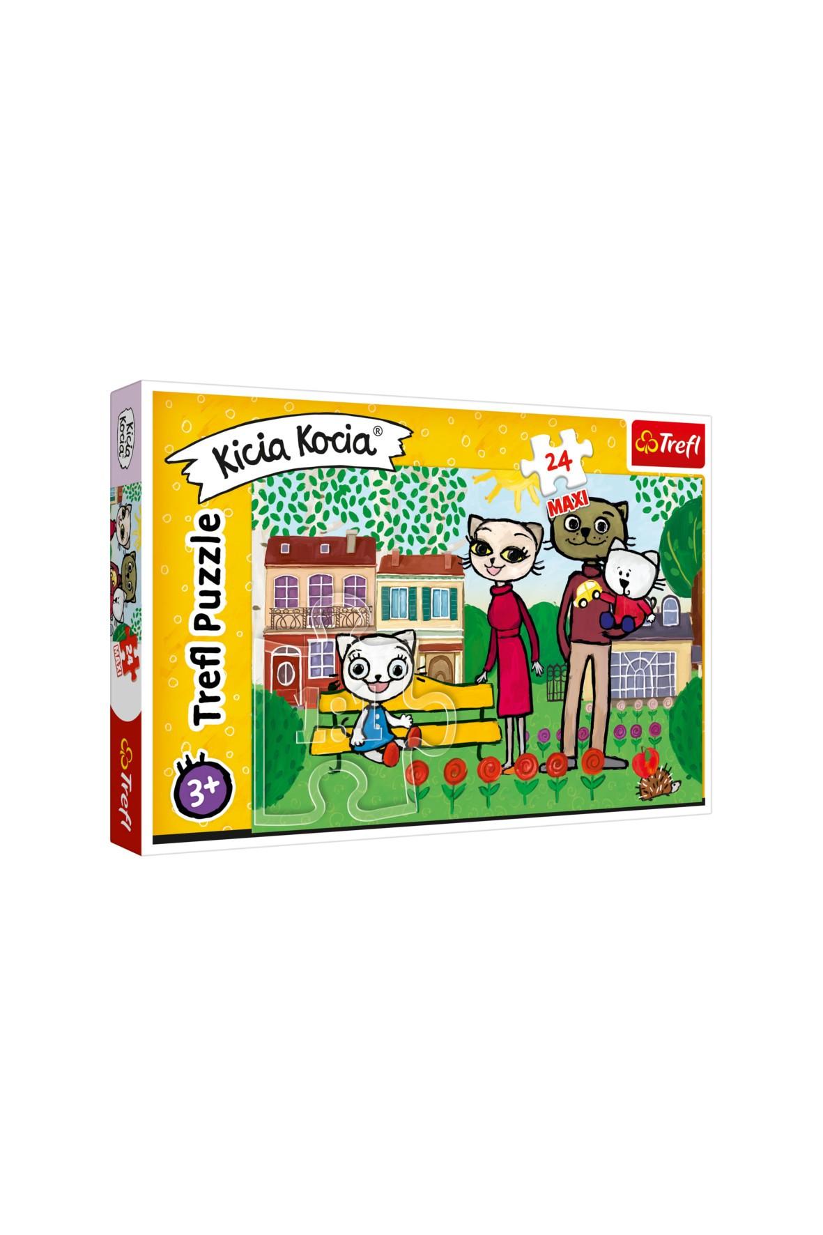 Puzzle Trefl 24el Maxi - Zabawy Kici Koci- 3+