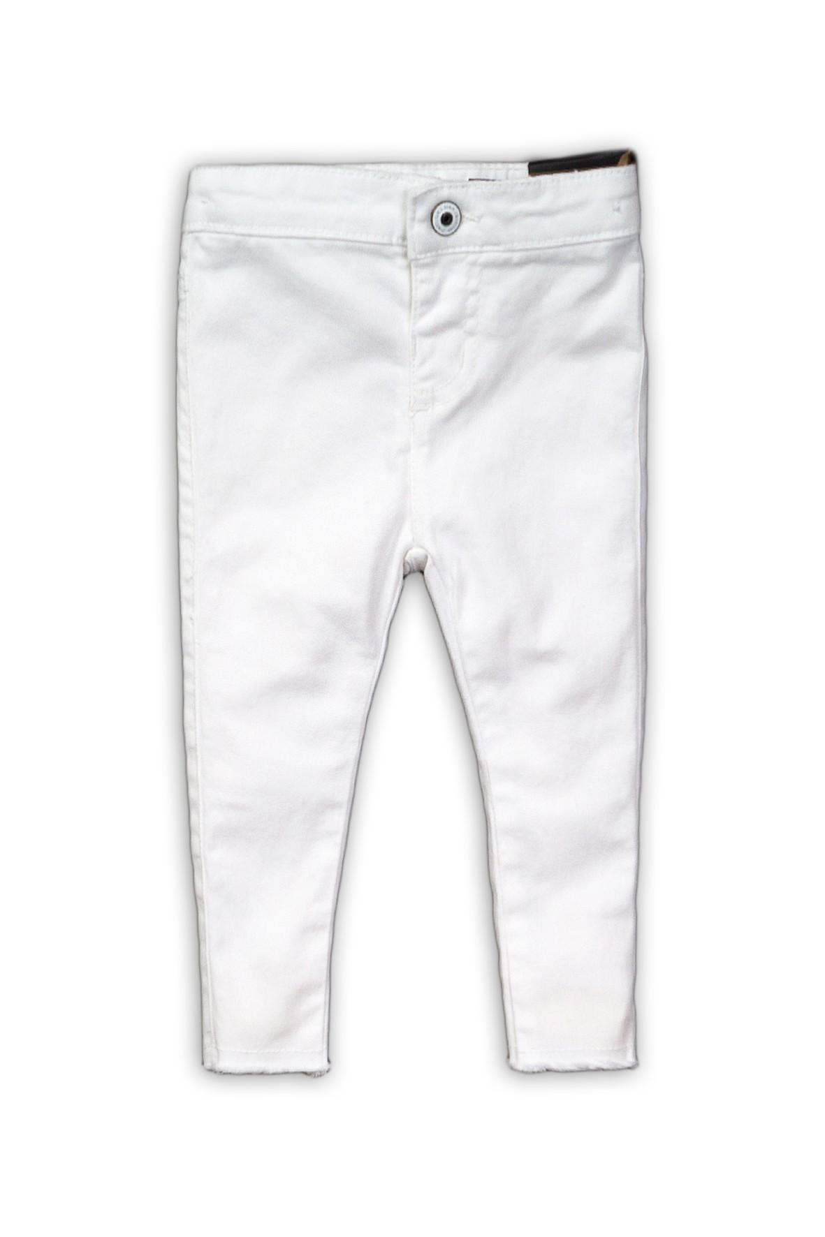 Jegginsy dziewczęce w kolorze białym