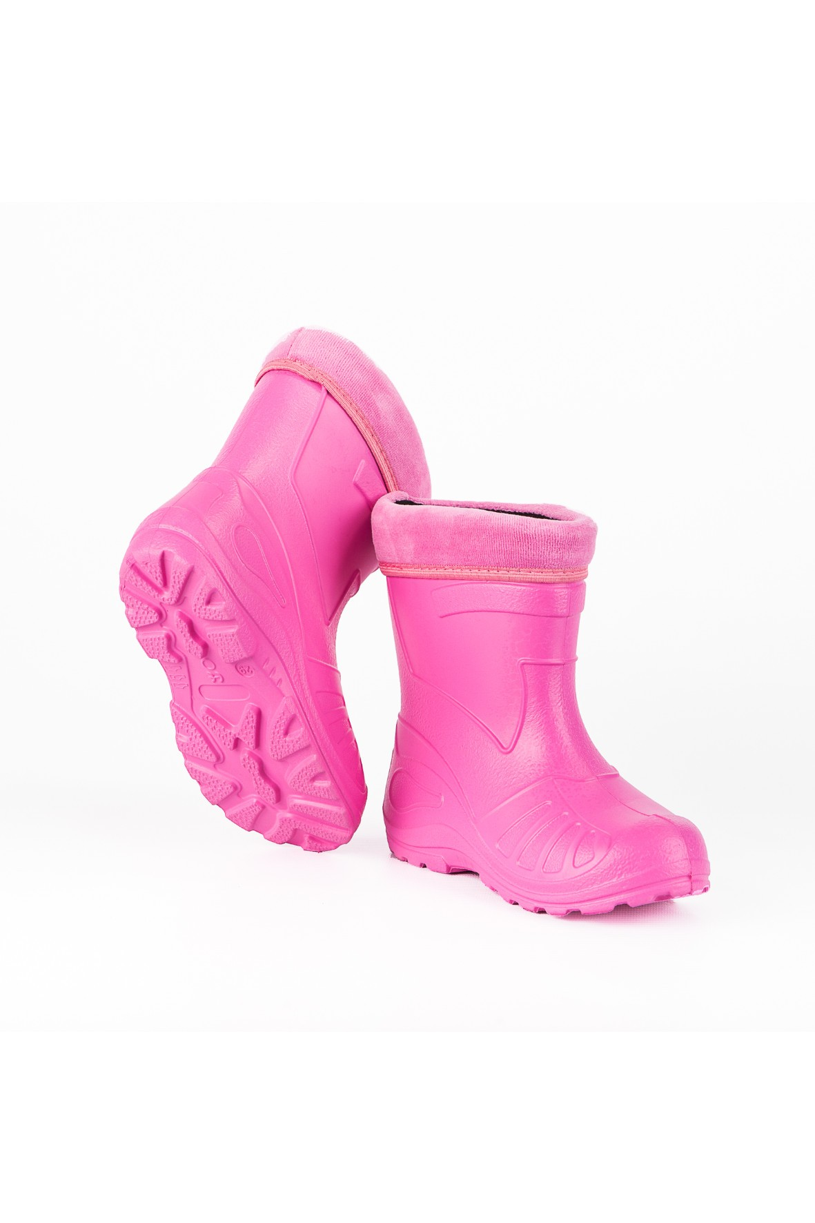 Kalosze dziecięce ocieplane - różowe
