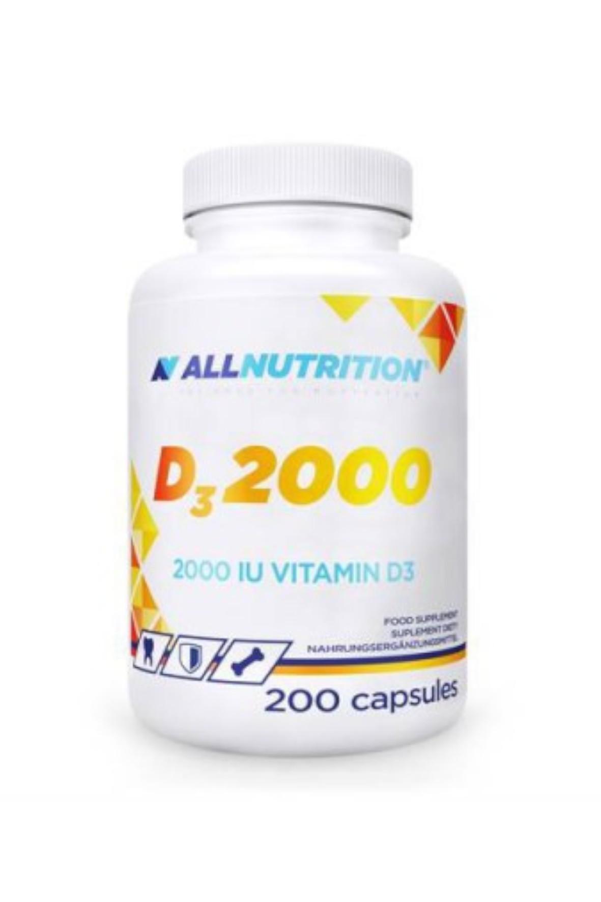 Suplementy diety - Allnutrition Witamina D3 2000 - 200 kapsułek