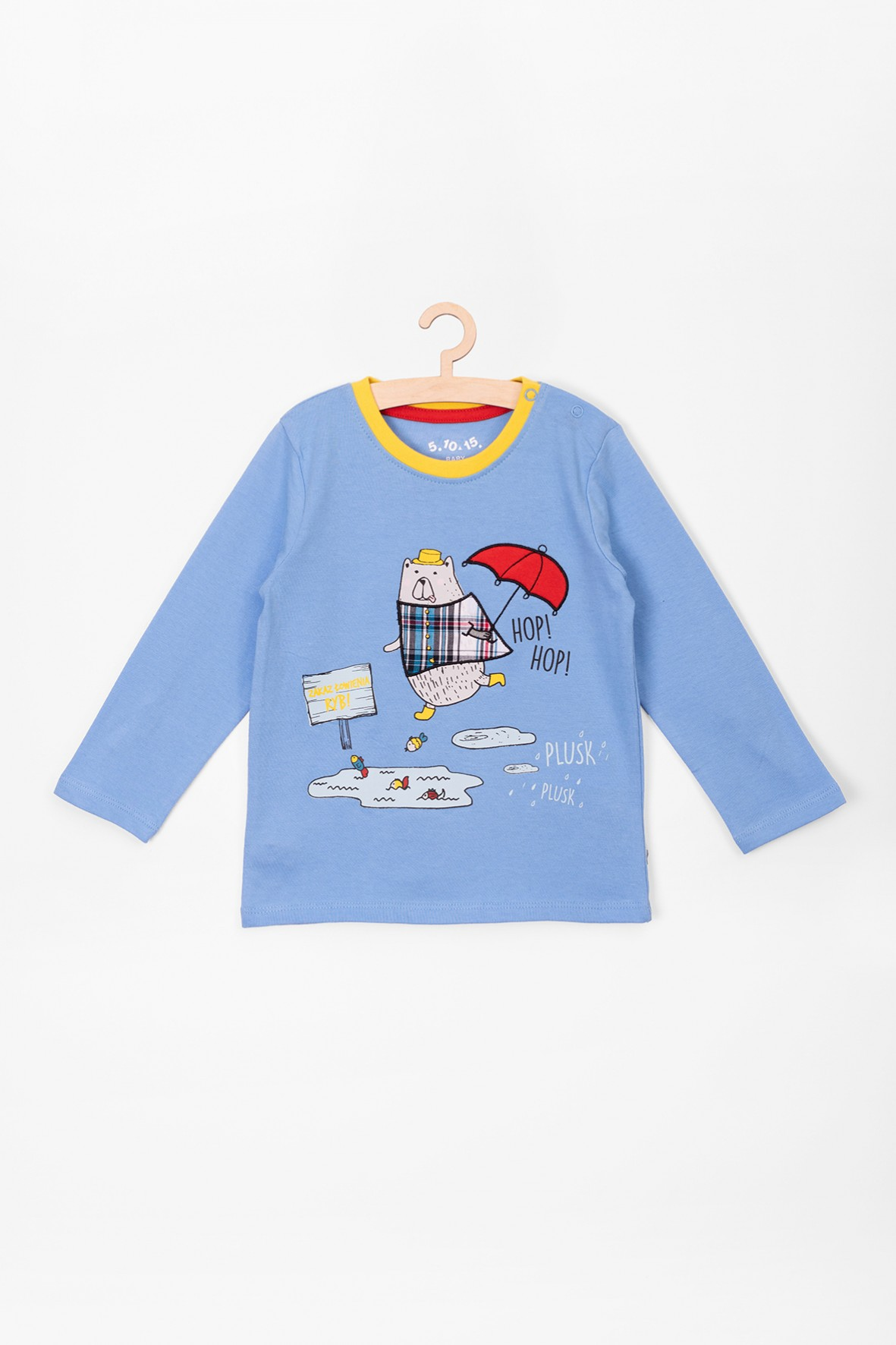 Bluzka bawełniana dla niemowlaka- niebieska