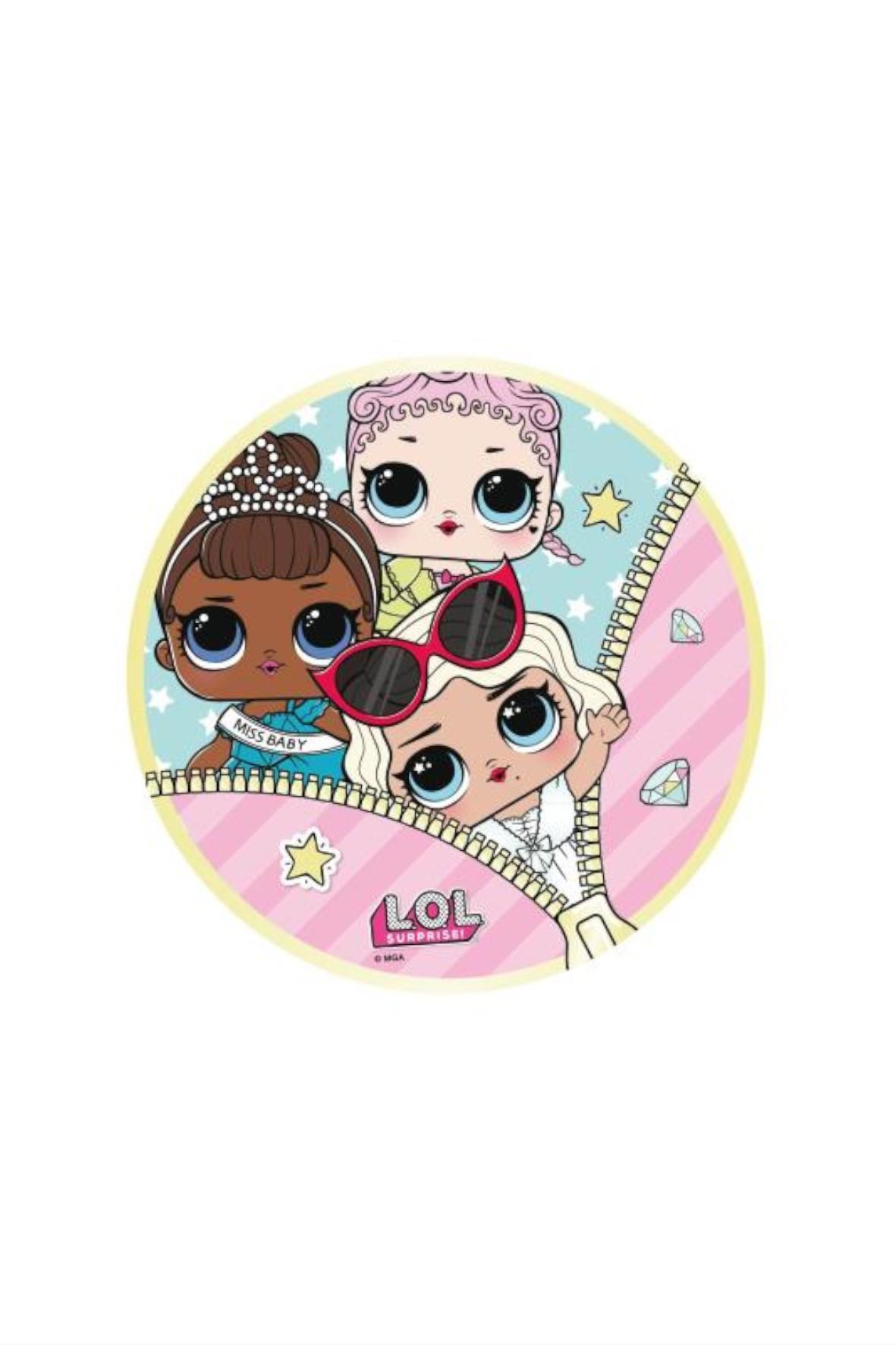 Ręcznik kapielowy okrągły dla dziewczynki L.O.L