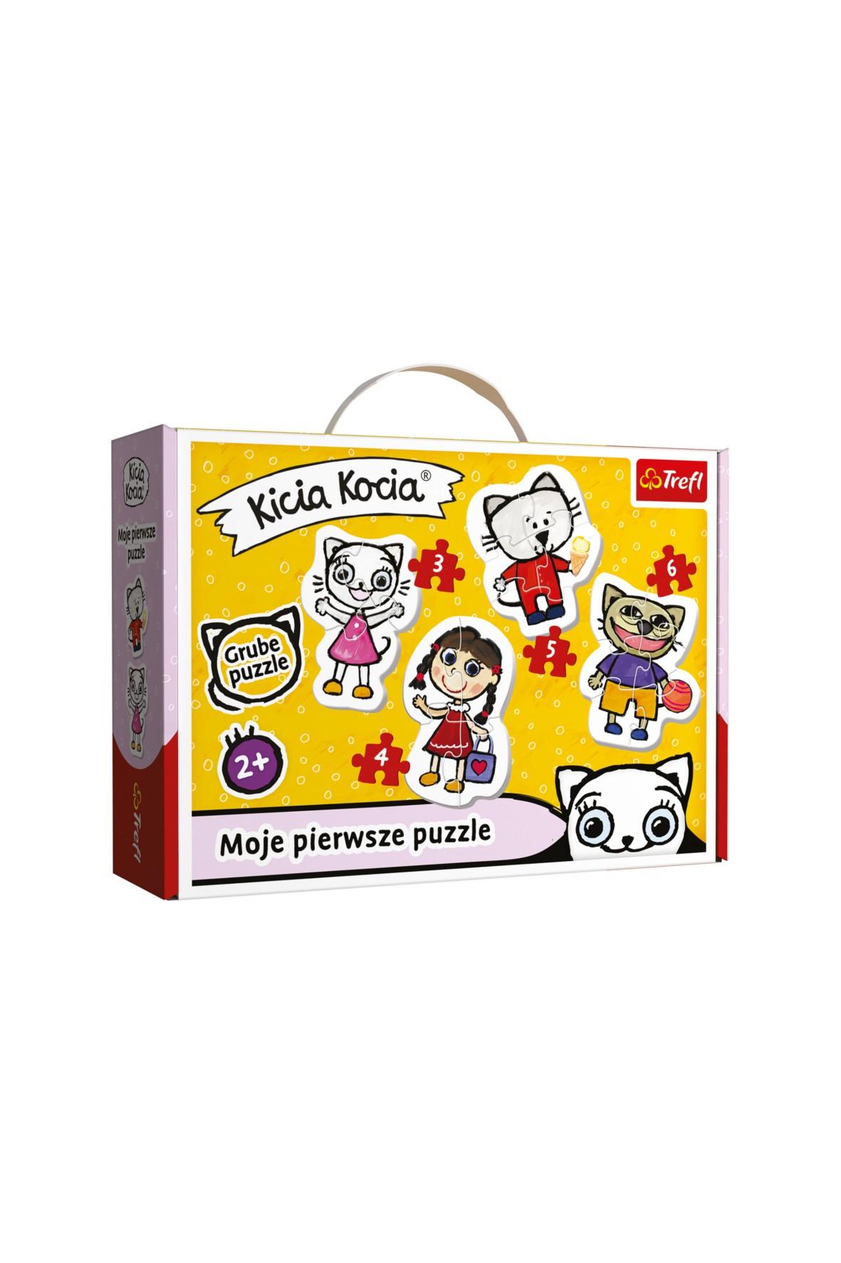 Puzzle Trefl Baby Classic - Wesoła Kicia Kocia 2+