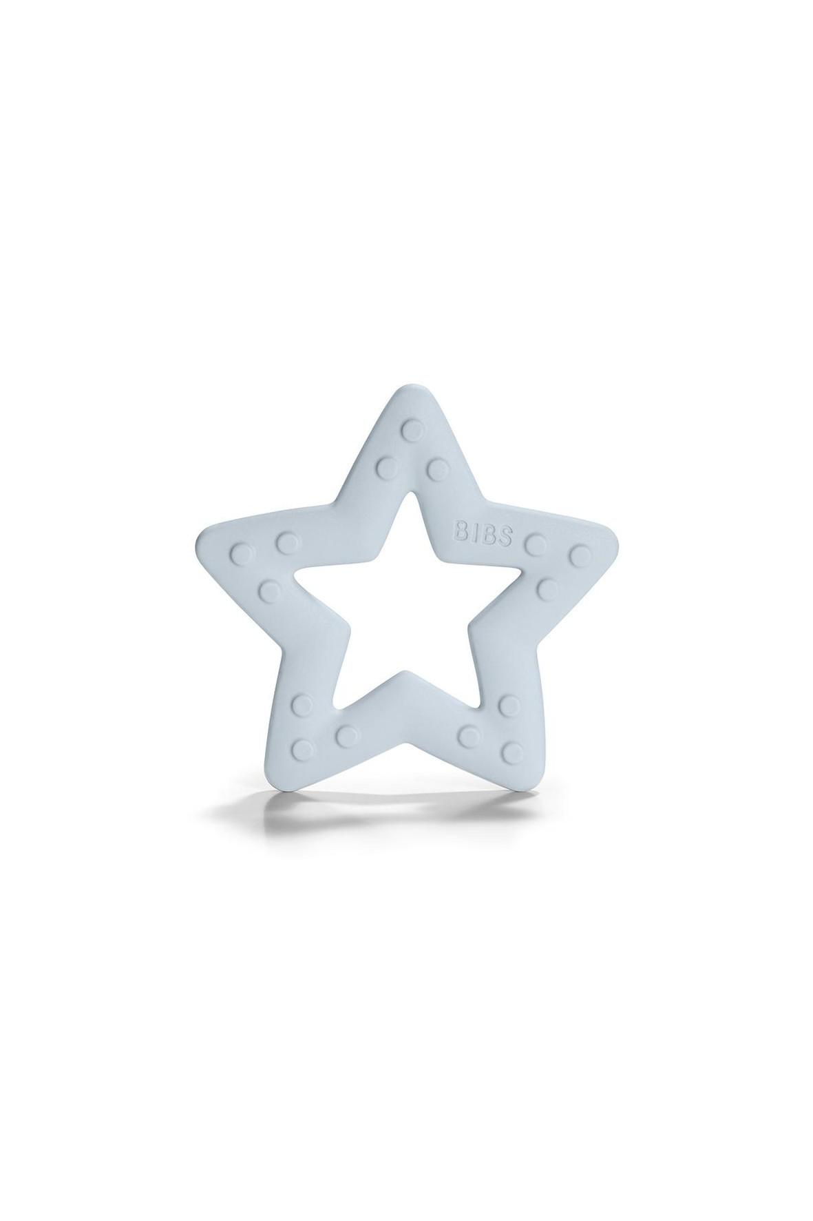 BIBS Baby Bitie STAR Baby Blue gryzak dla niemowlaka - niebieski wiek 3msc+