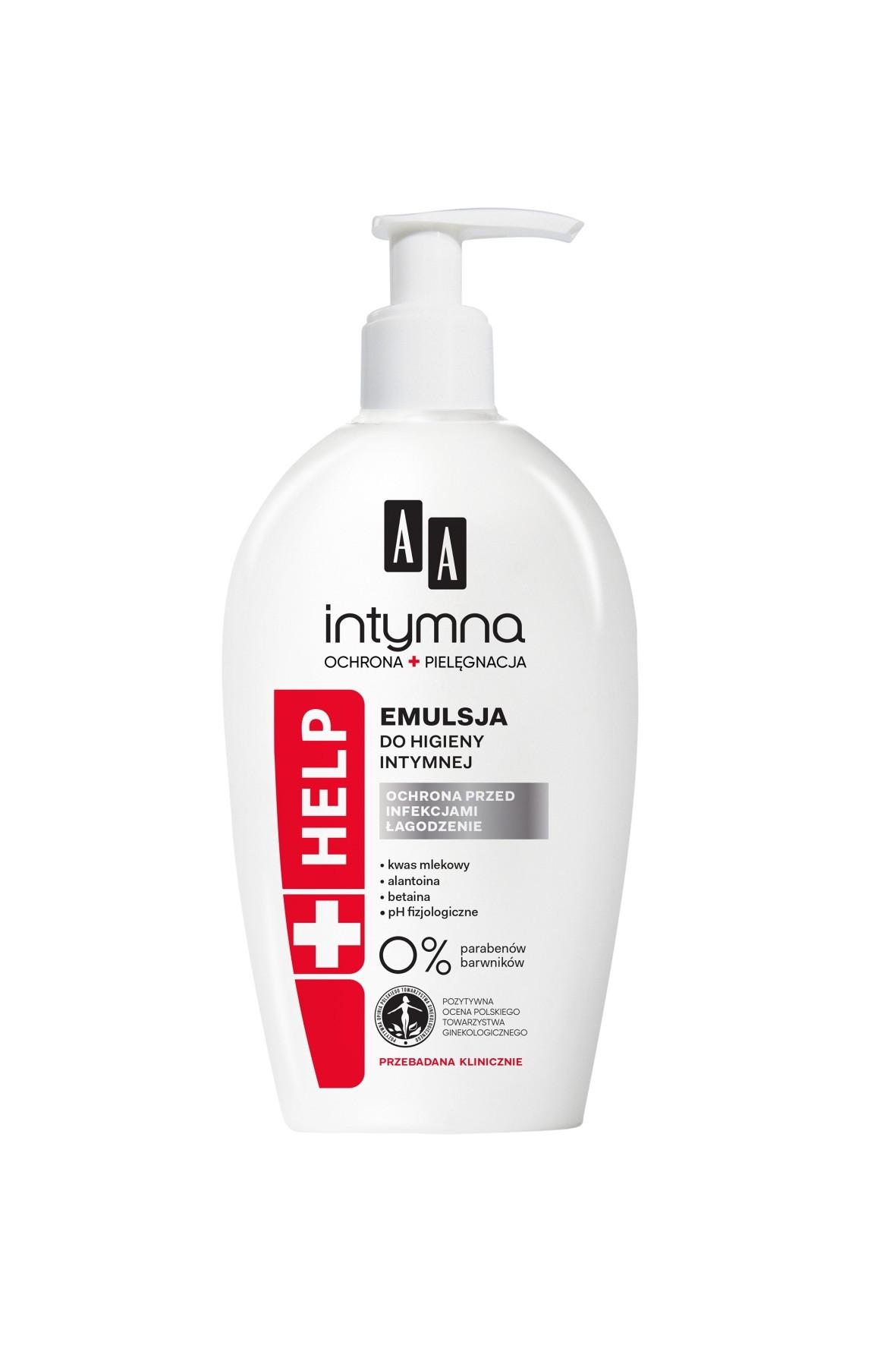 AA Intymna Ochrona&Pielęgnacja emulsja do higieny intymnej Help 300 ml