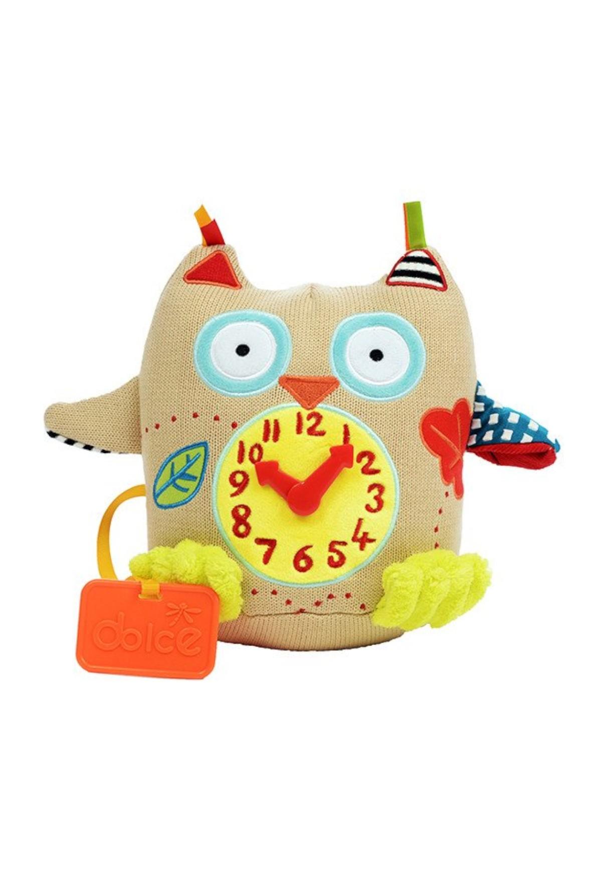 Mój pierwszy zegar Dolce Sówka zabawka sensoryczna