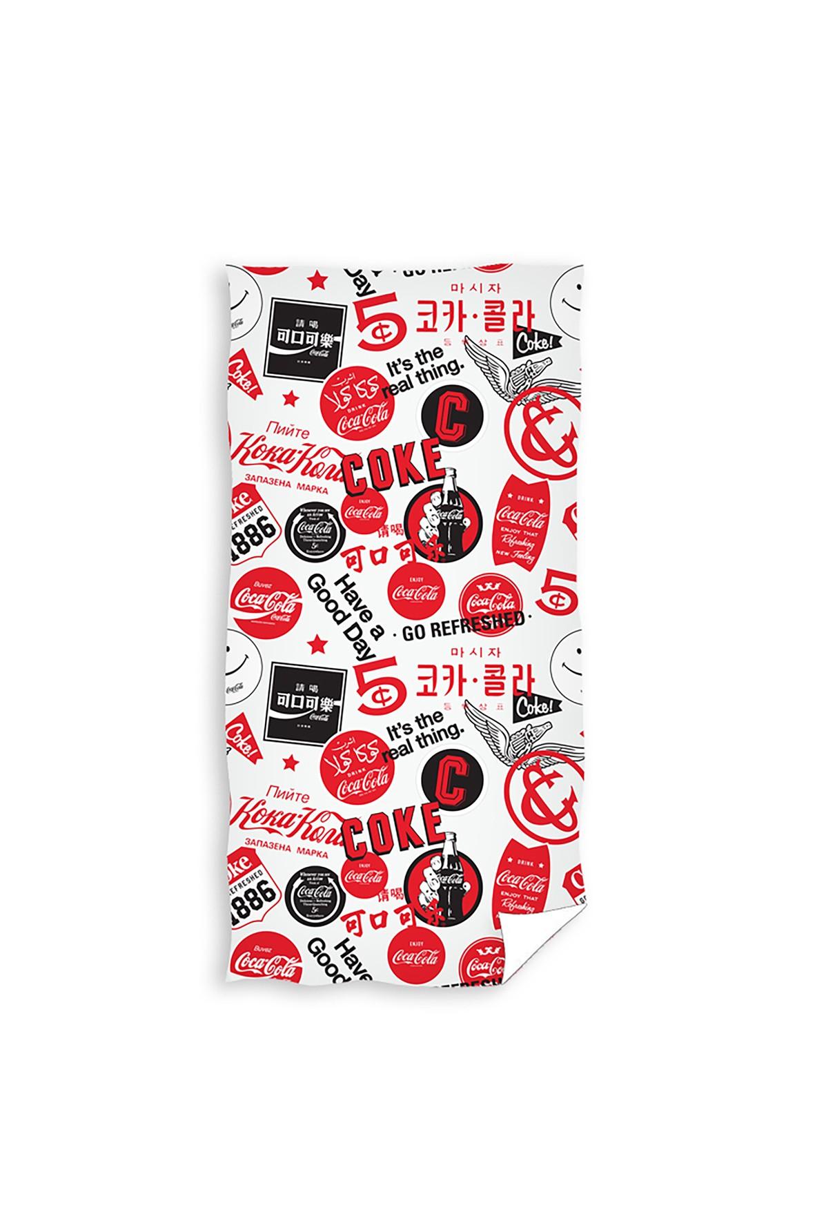 Ręcznik kąpielowy bawełniany  Coca Cola  70x140 cm