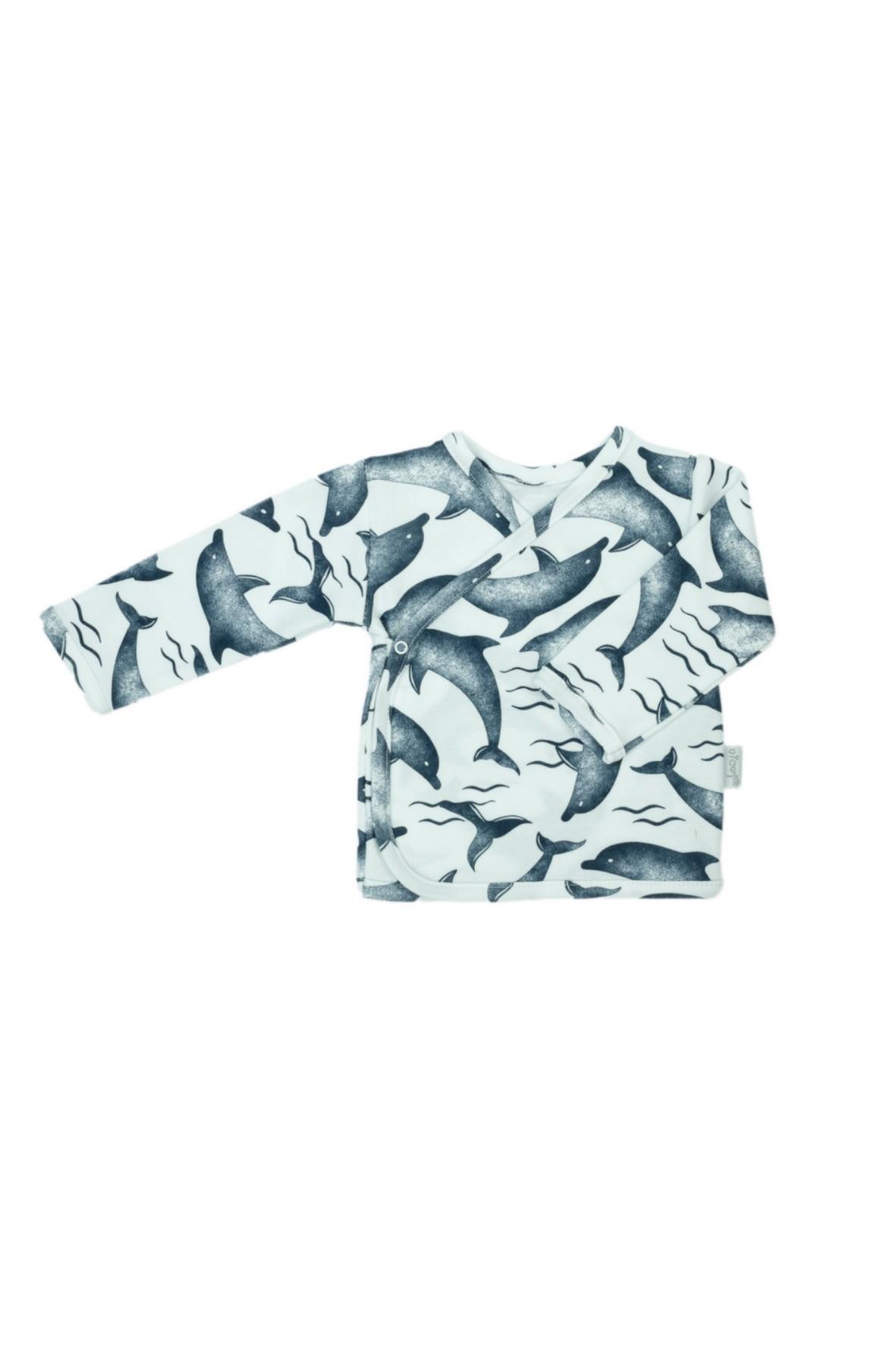 Wygodna koszulka kopertowa dla chłopca z kolekcji Delfin