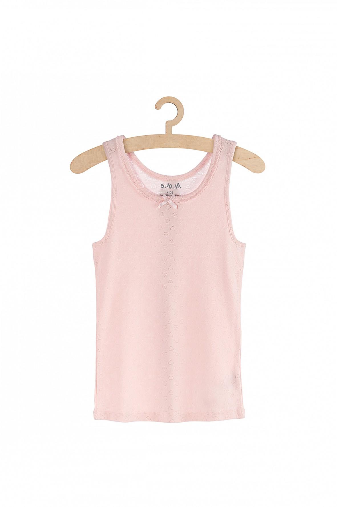 Podkoszulek dziewczęcy różowy- 100% bawełna