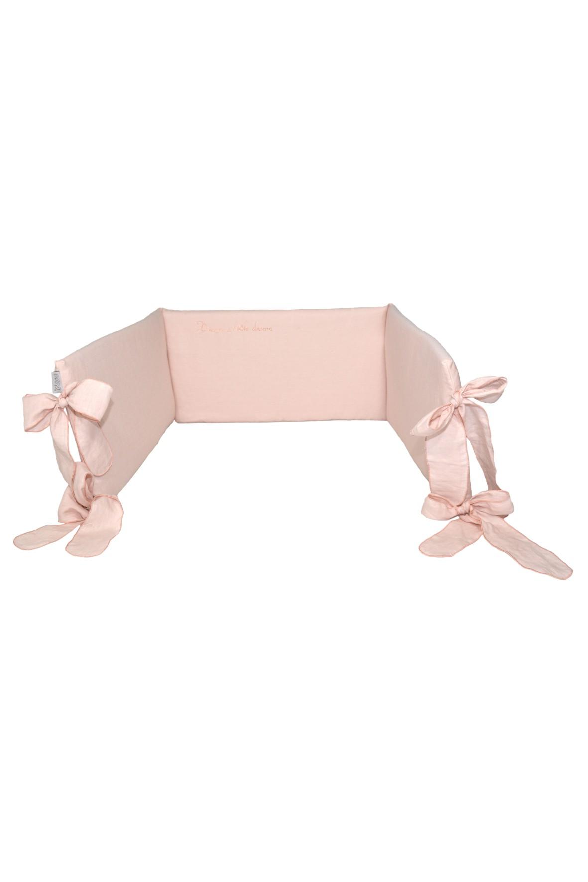Ochraniacz do łóżeczka 180x32cm - różowy